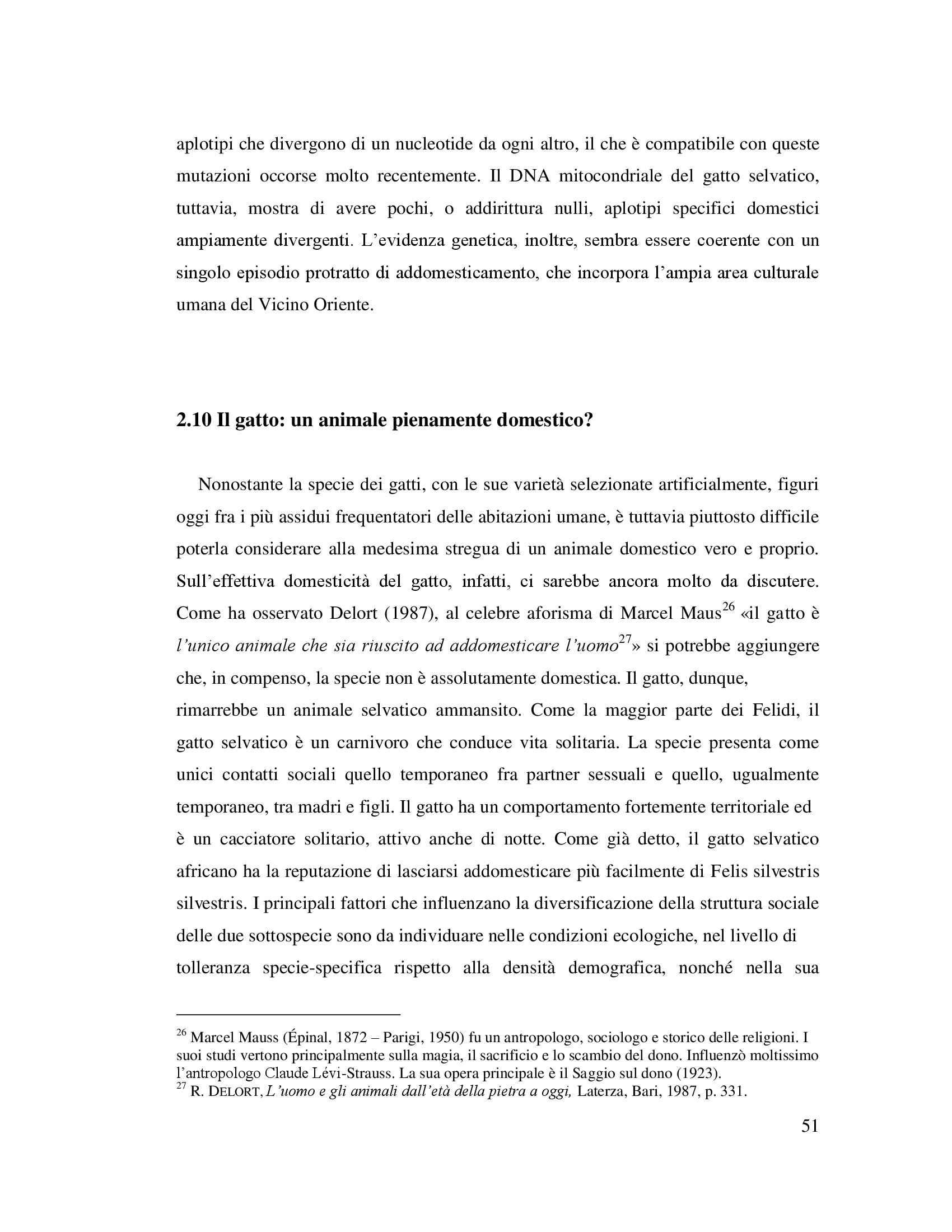 Tesi - Origini ed evoluzione del gatto domestico nel Mediterraneo Pag. 51