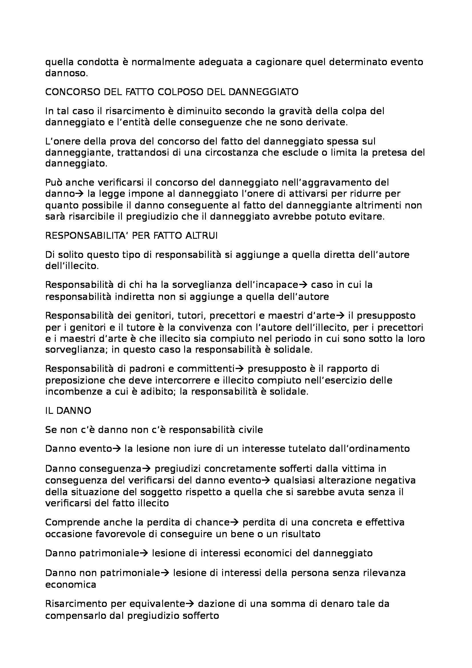 Riassunto esame Diritto Privato, prof. Lucchini, libro consigliato Manuale di Diritto Privato: Obbligazioni, Torrente, Schlesinger Pag. 6
