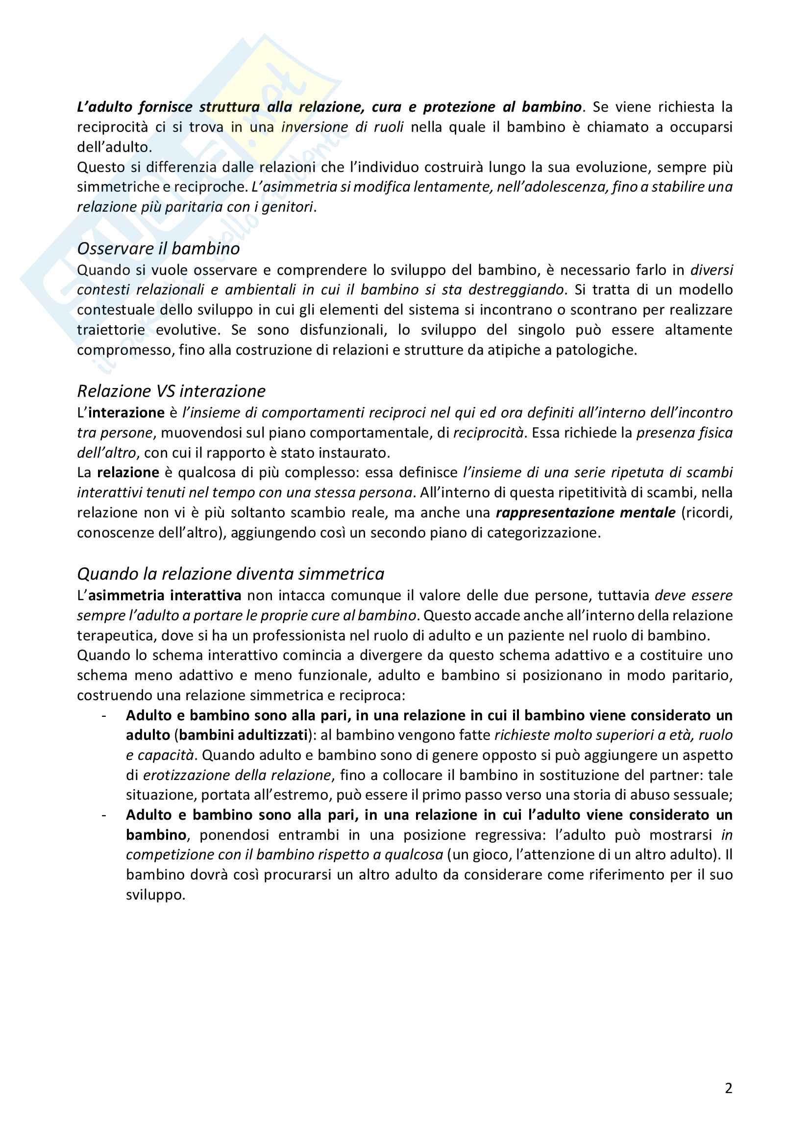 Psicopatologia dello sviluppo Pag. 2