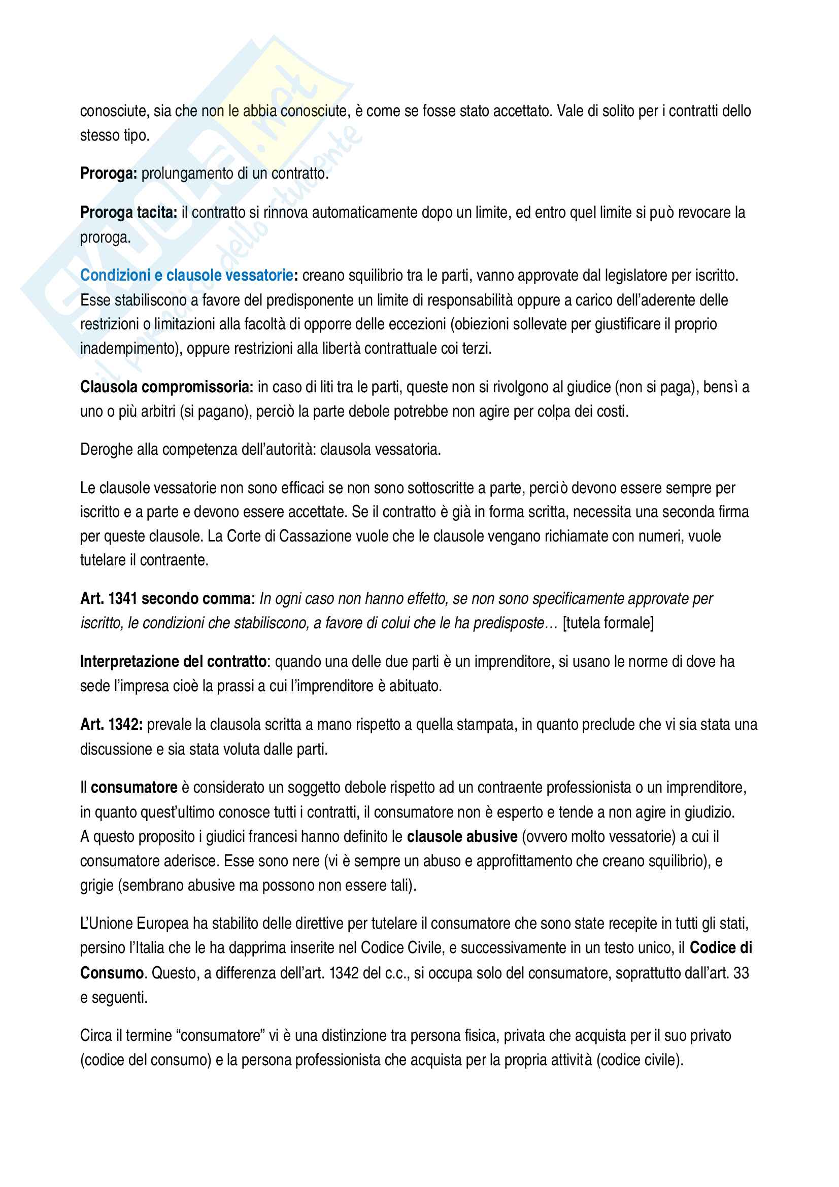 Istituzioni di diritto privato - appunti completi per l'esame Pag. 11
