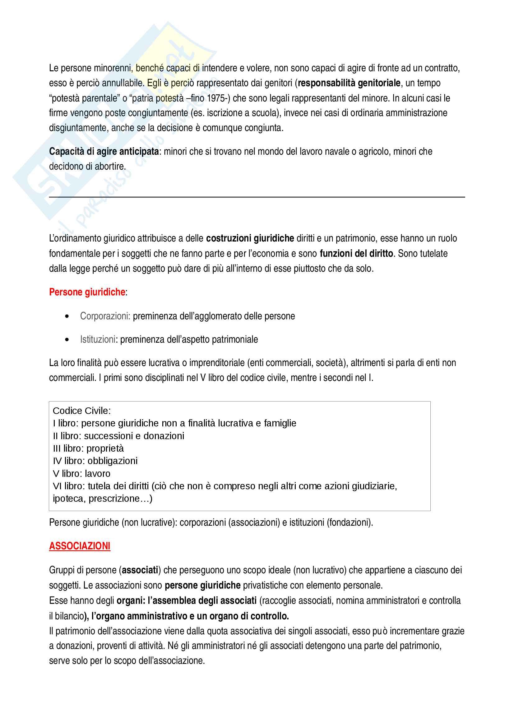 Istituzioni di diritto privato - appunti completi per l'esame Pag. 2