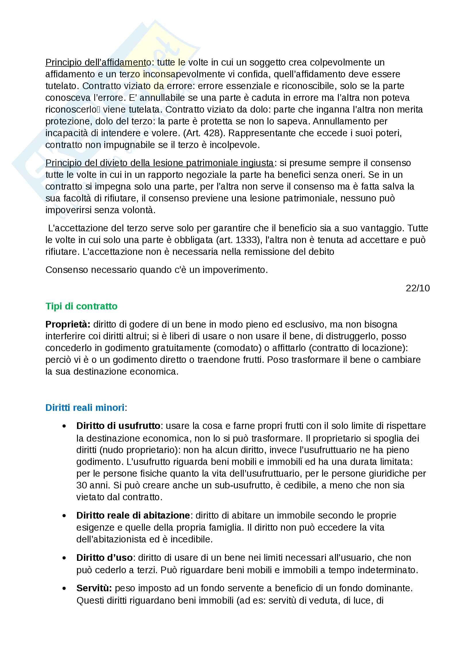 Istituzioni di diritto privato - appunti completi per l'esame Pag. 21