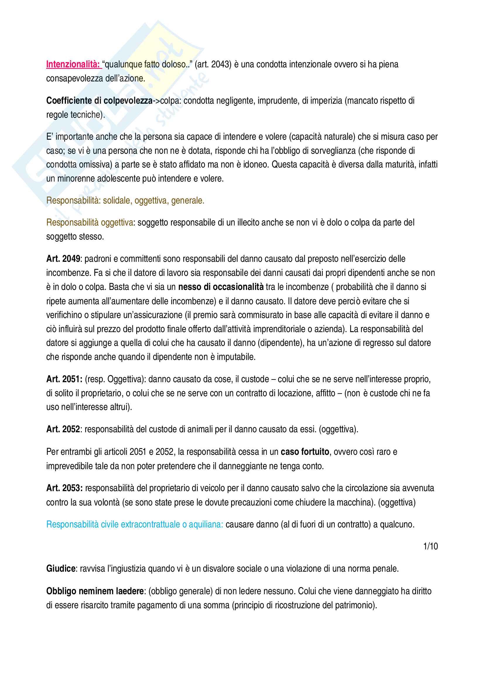 Istituzioni di diritto privato - appunti completi per l'esame Pag. 6