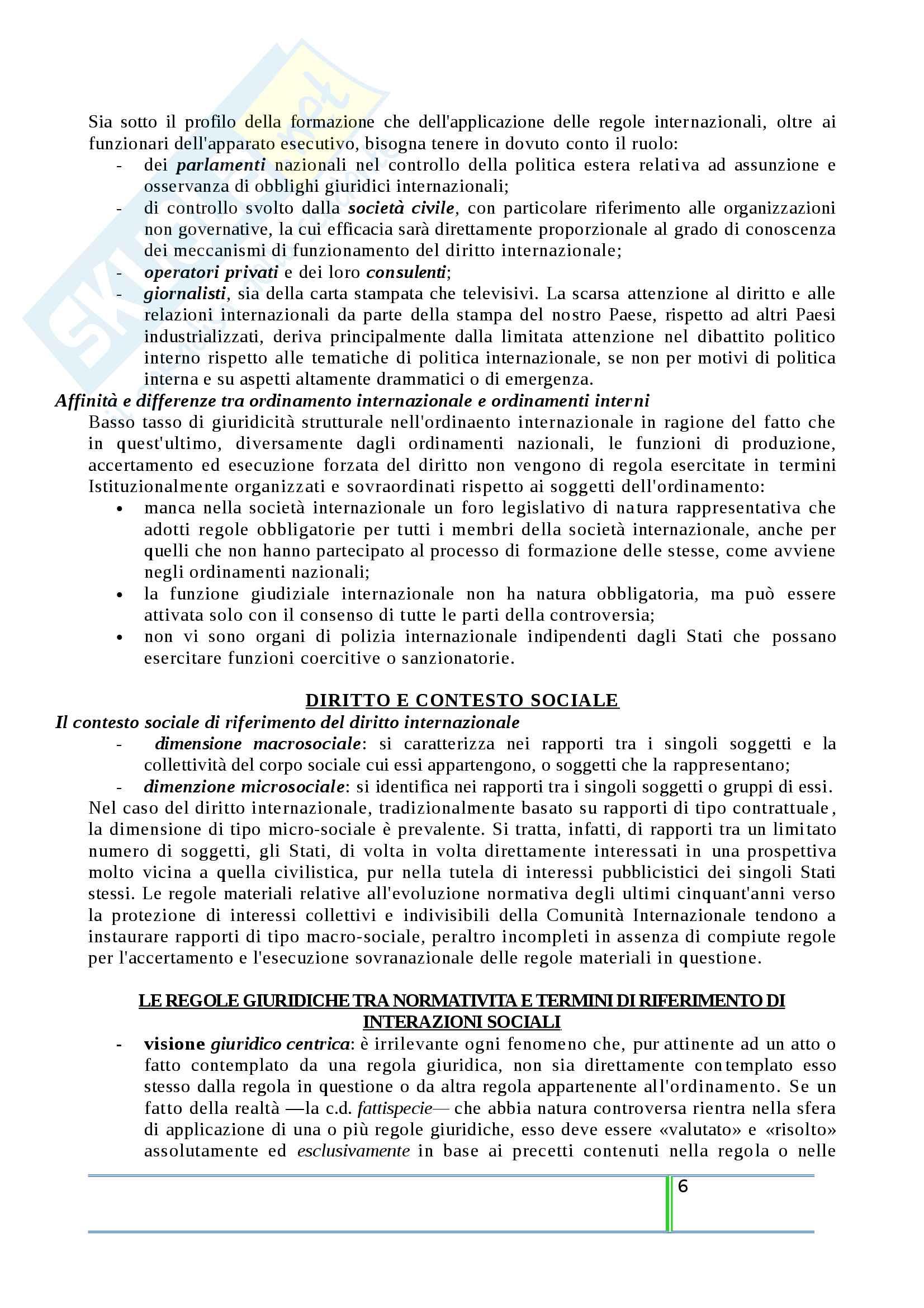 Riassunto esame Diritto Internazionale, prof. Tanzi, libro consigliato Introduzione al Diritto Internazionale Contemporaneo, Tanzi Pag. 6