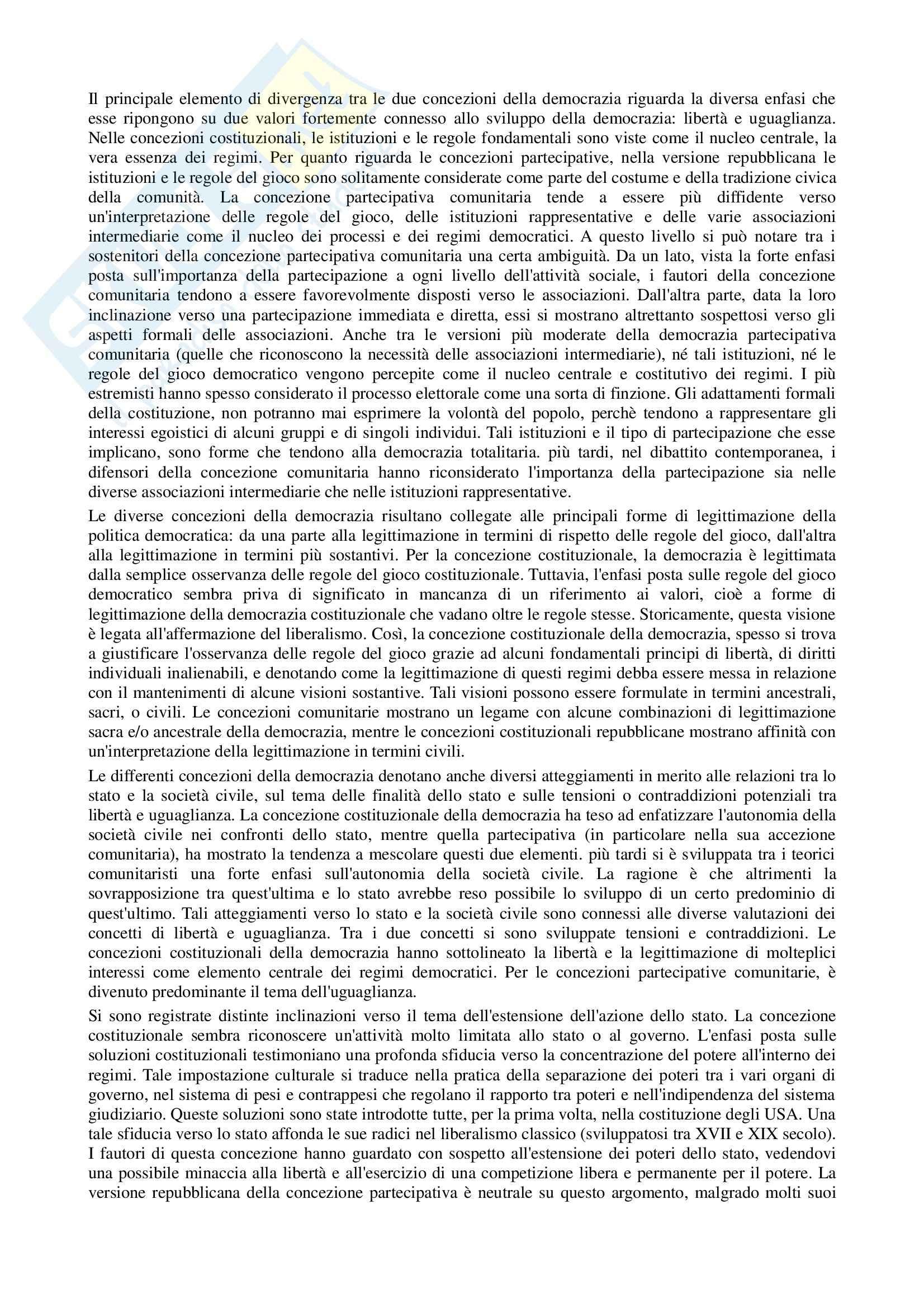 Riassunto esame Scienza politica, prof. Nevola, libro consigliato Paradossi della democrazia, Eisenstadt Pag. 2