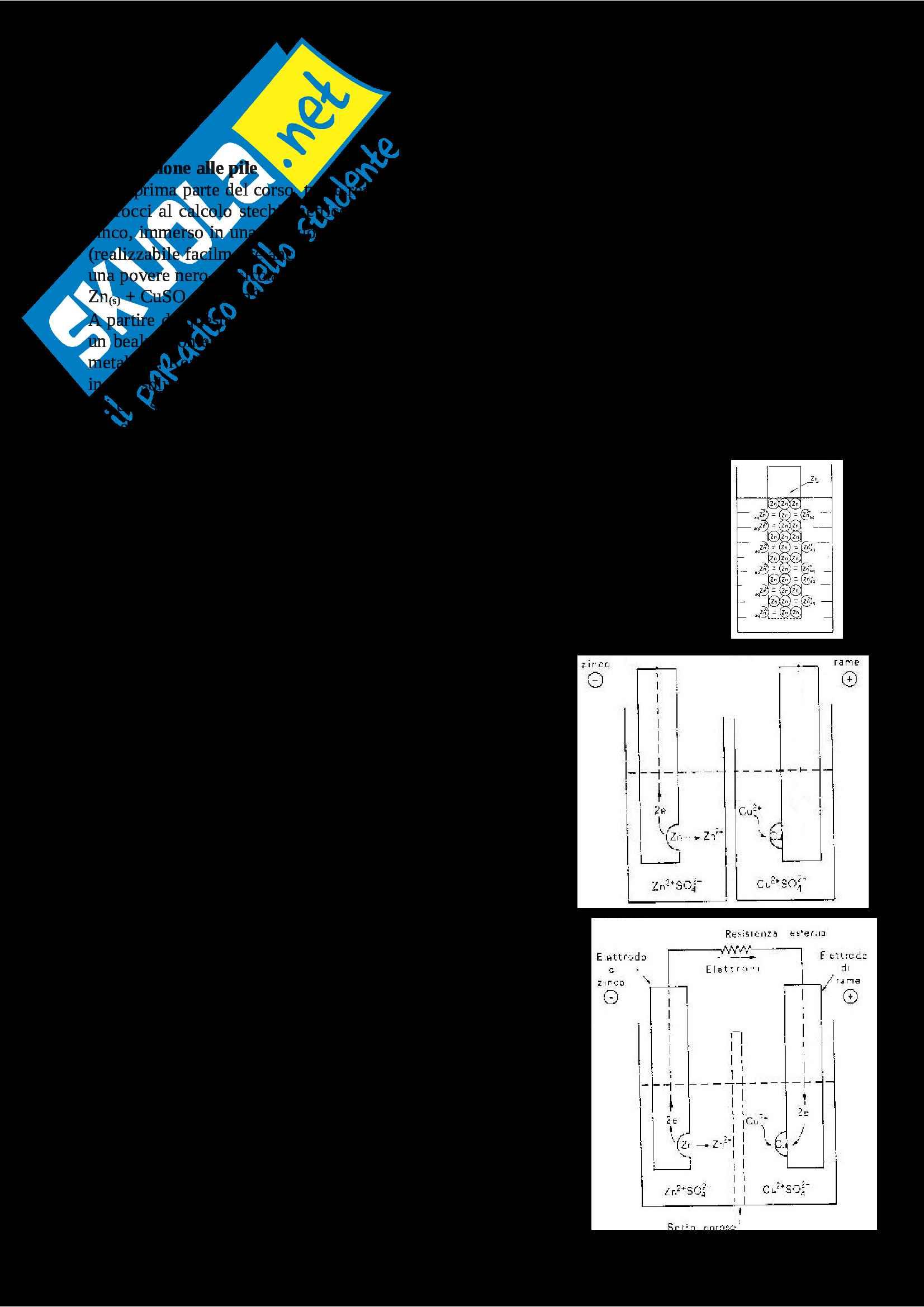 Appunti di chimica sulle pile