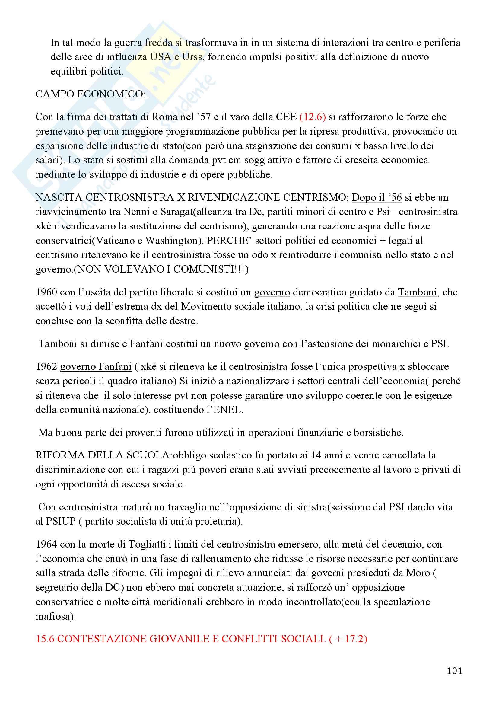 Storia Contemporanea, Detti, Gozzini il Novecento - Riassunto Pag. 101