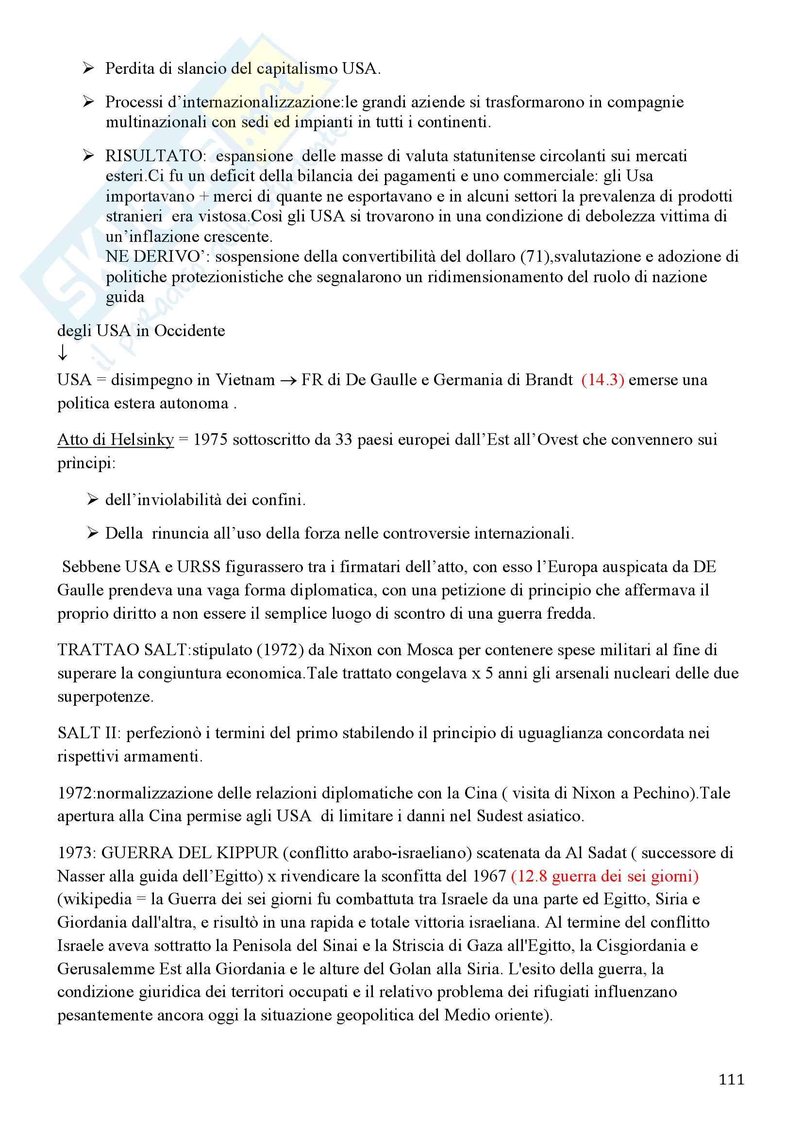 Storia Contemporanea, Detti, Gozzini il Novecento - Riassunto Pag. 111