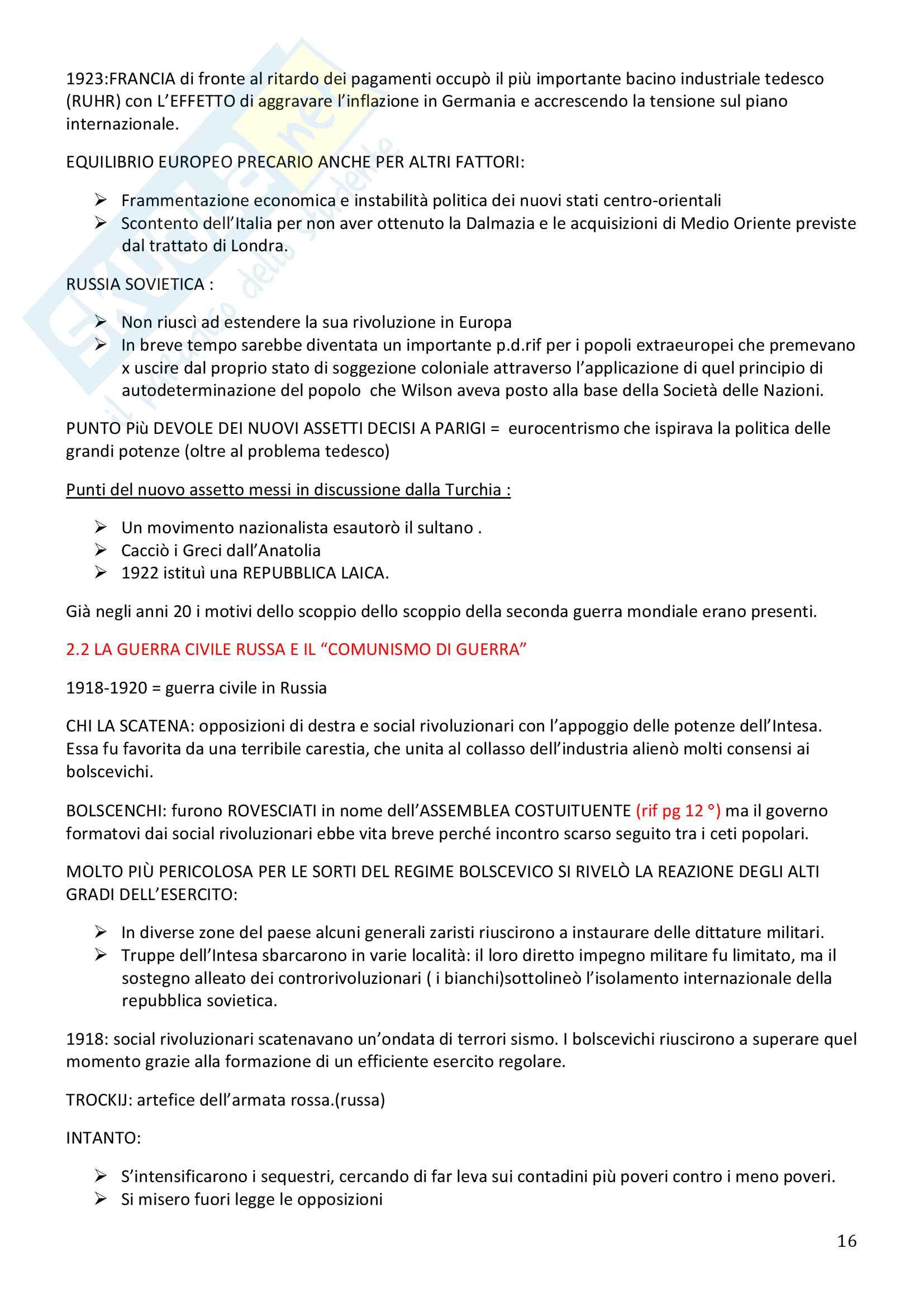 Storia Contemporanea, Detti, Gozzini il Novecento - Riassunto Pag. 16