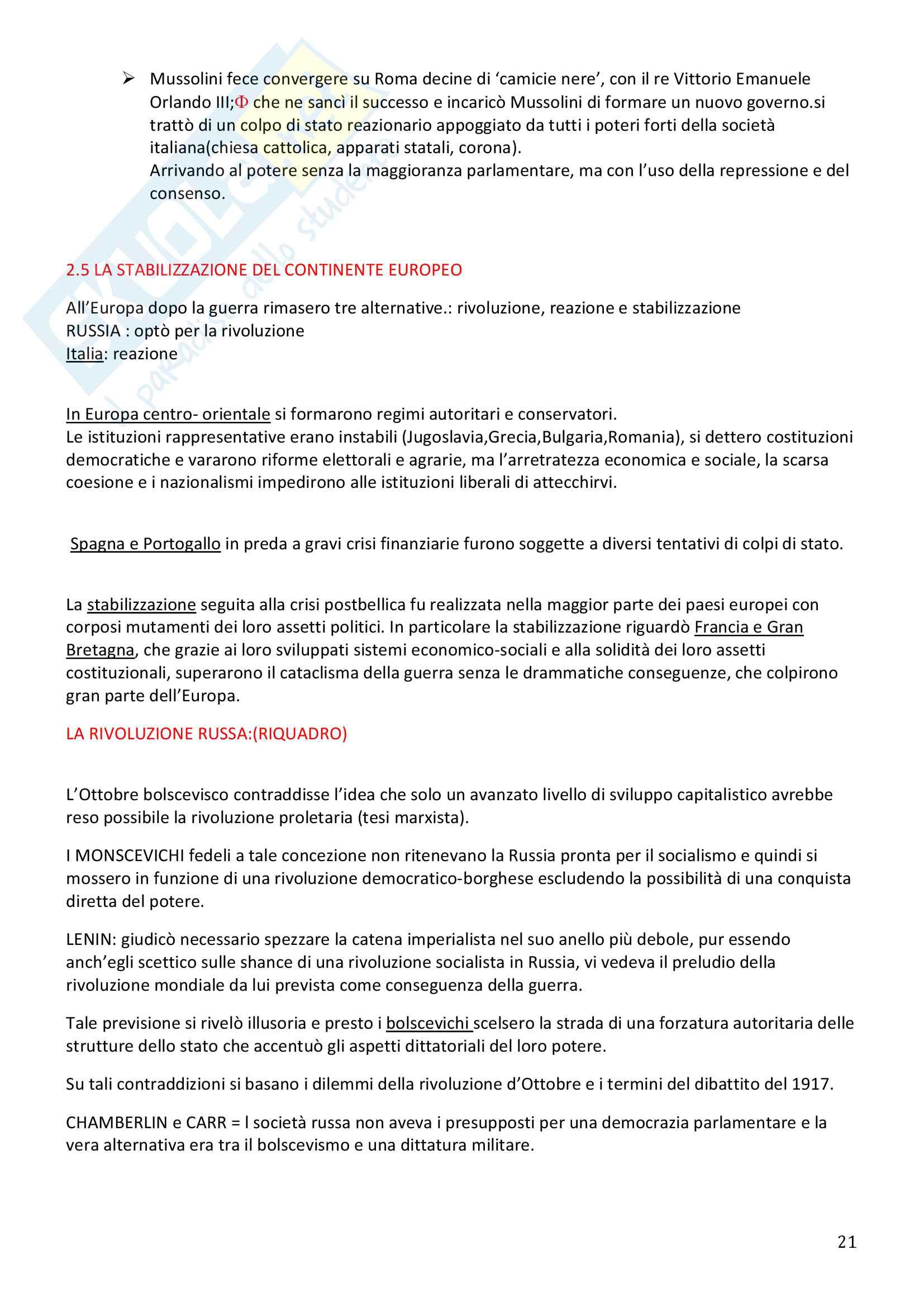 Storia Contemporanea, Detti, Gozzini il Novecento - Riassunto Pag. 21
