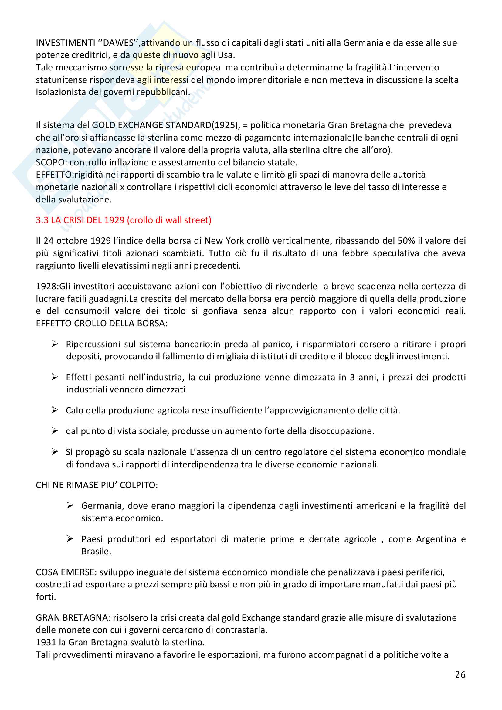 Storia Contemporanea, Detti, Gozzini il Novecento - Riassunto Pag. 26