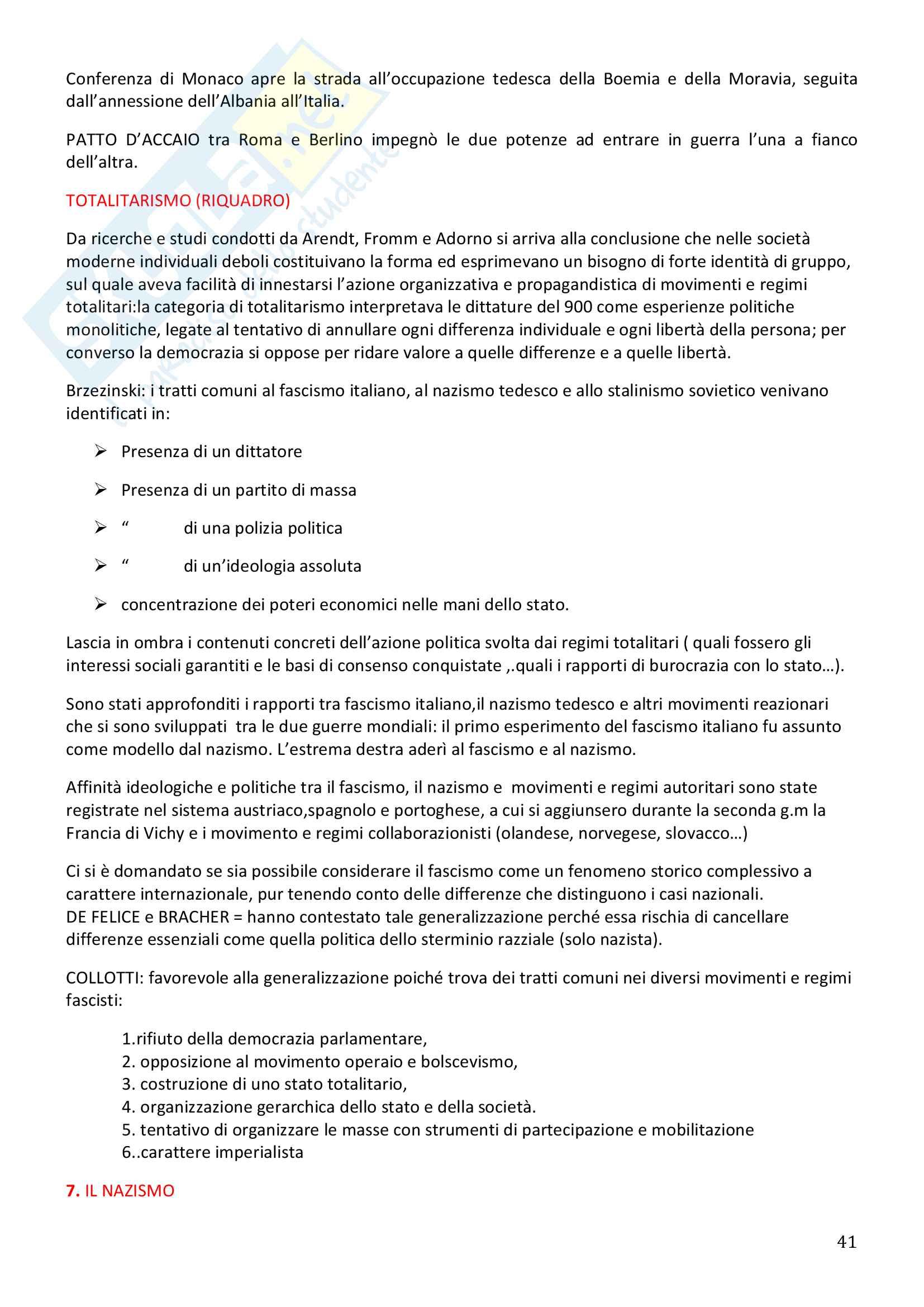 Storia Contemporanea, Detti, Gozzini il Novecento - Riassunto Pag. 41