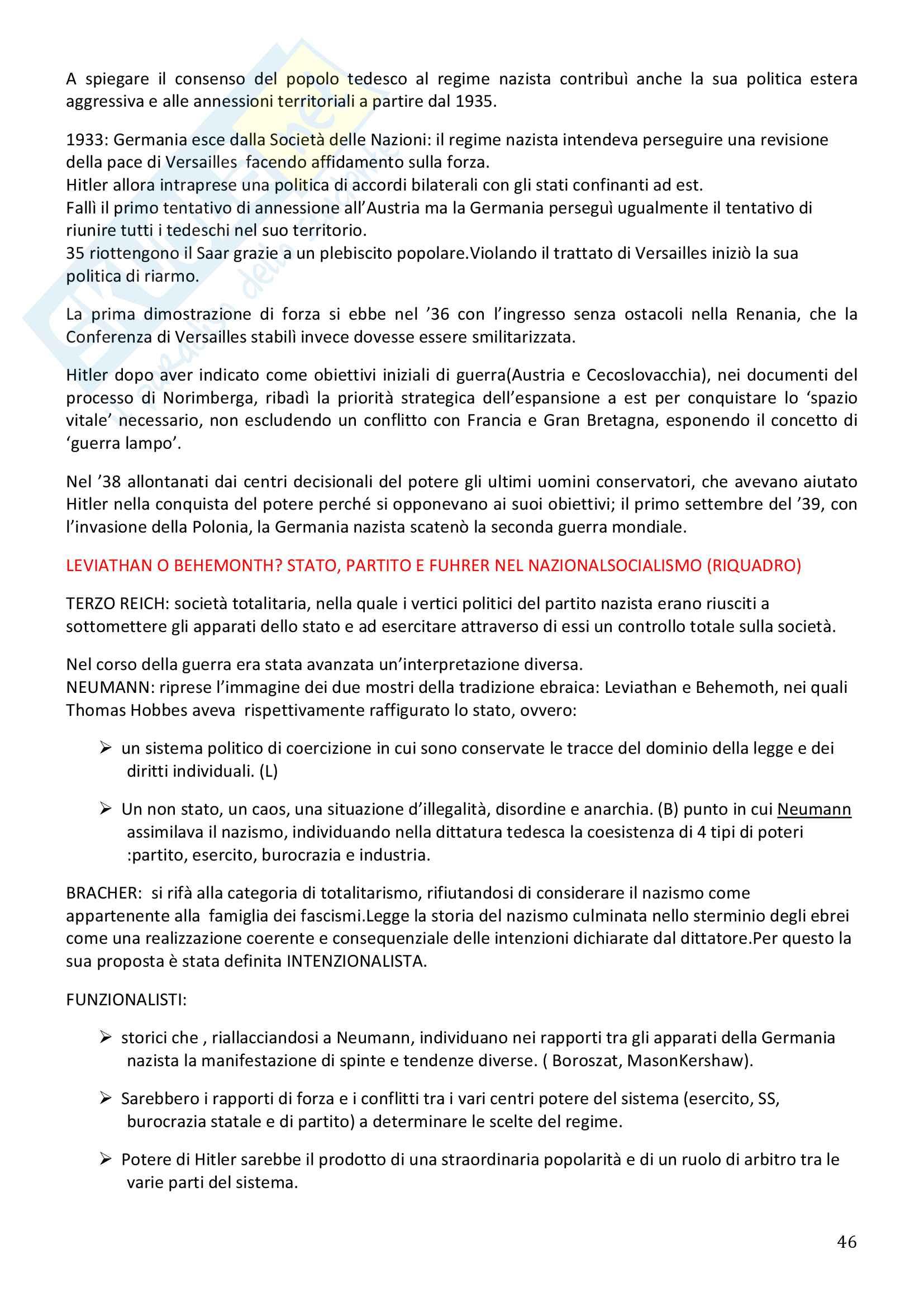 Storia Contemporanea, Detti, Gozzini il Novecento - Riassunto Pag. 46