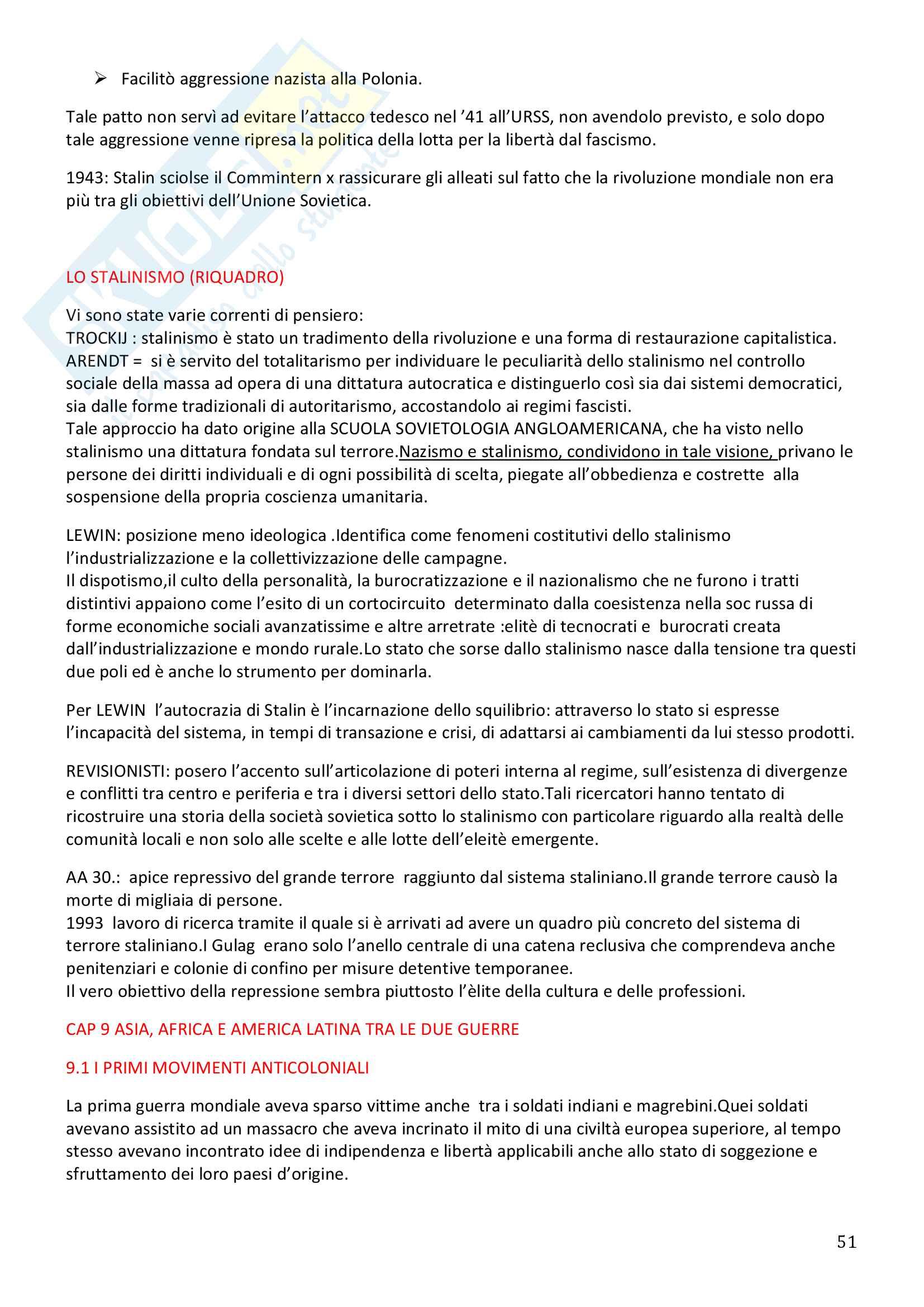 Storia Contemporanea, Detti, Gozzini il Novecento - Riassunto Pag. 51