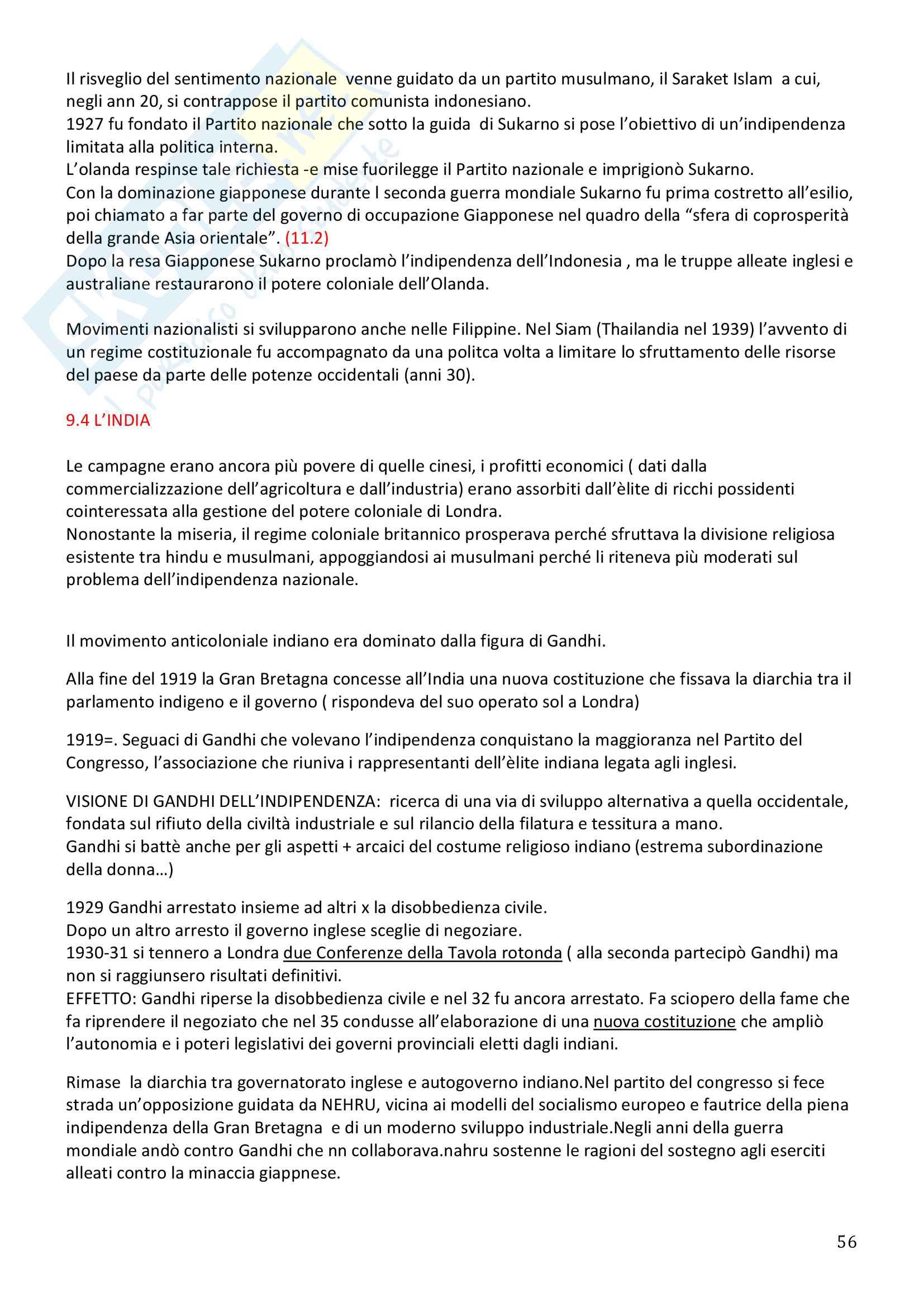 Storia Contemporanea, Detti, Gozzini il Novecento - Riassunto Pag. 56