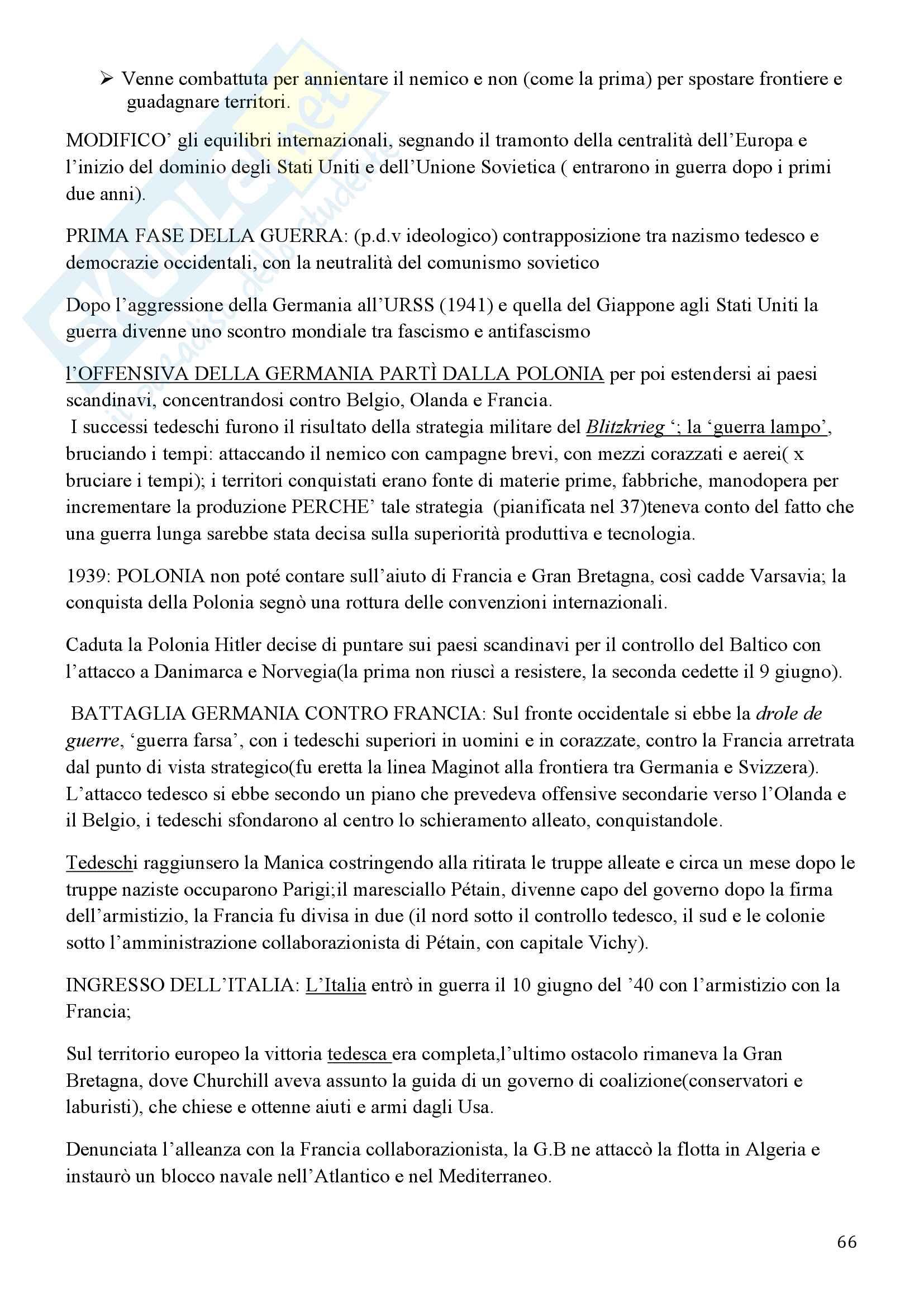 Storia Contemporanea, Detti, Gozzini il Novecento - Riassunto Pag. 66