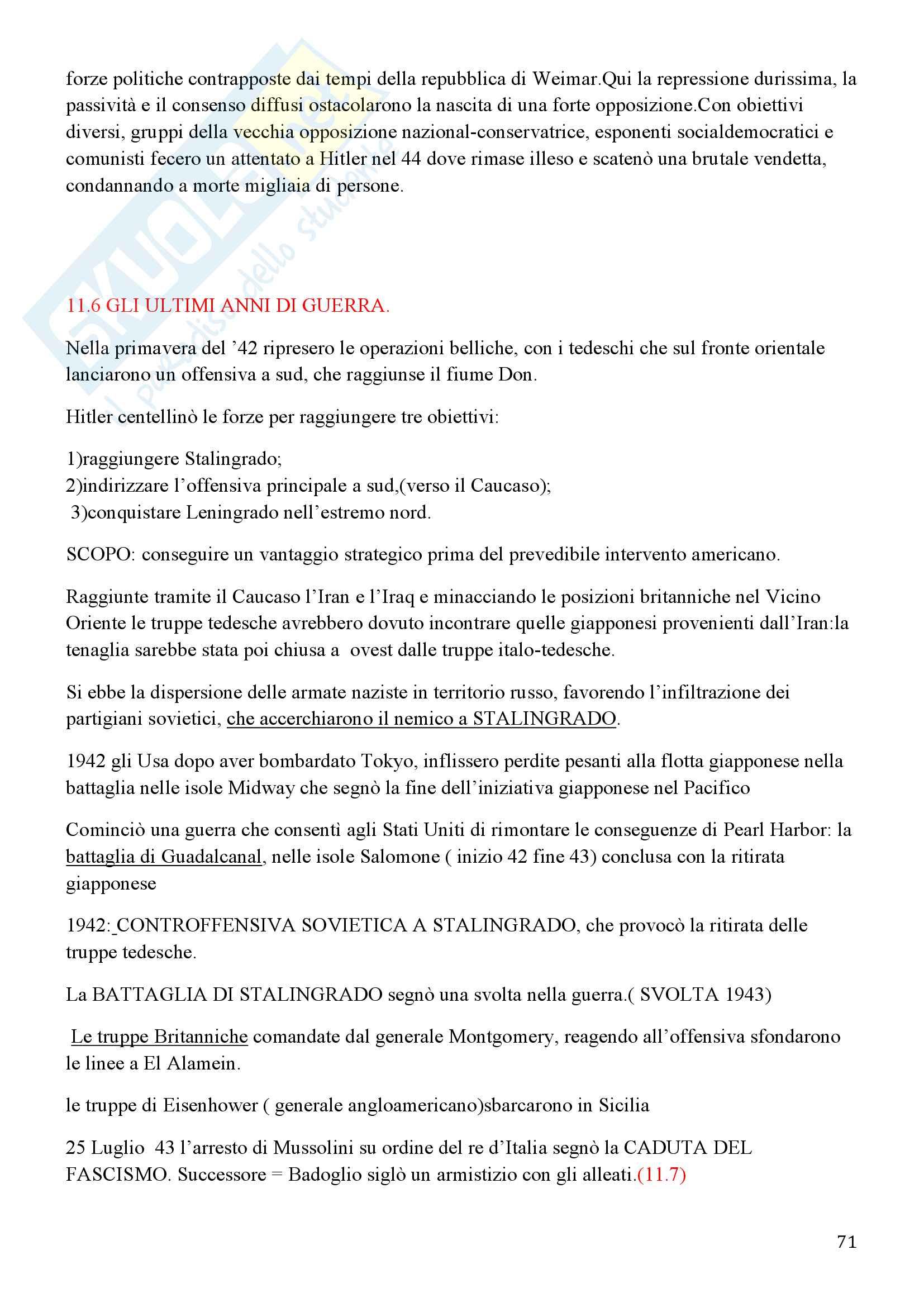 Storia Contemporanea, Detti, Gozzini il Novecento - Riassunto Pag. 71
