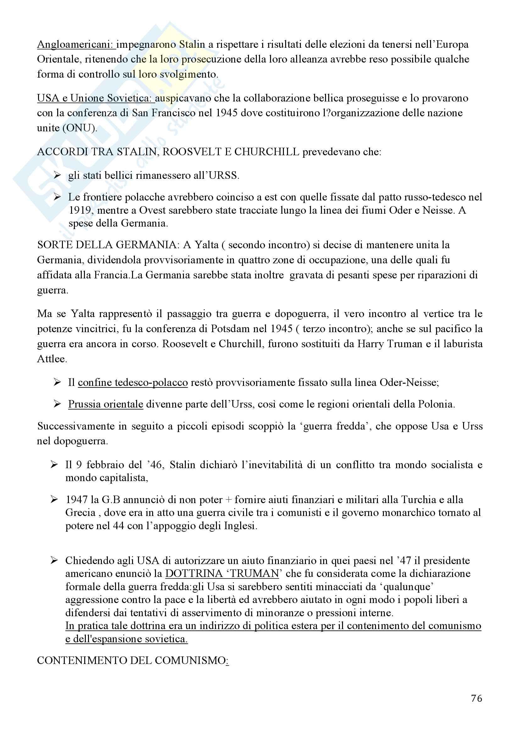 Storia Contemporanea, Detti, Gozzini il Novecento - Riassunto Pag. 76