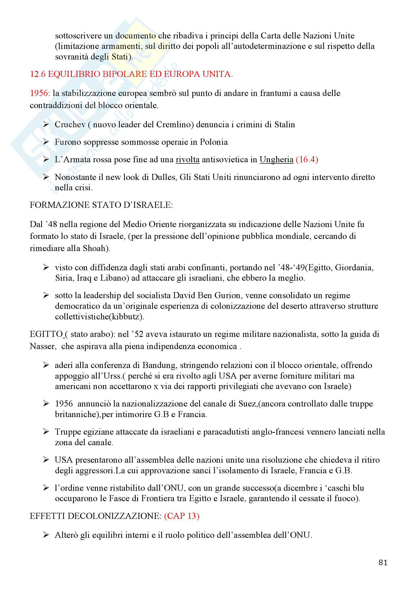 Storia Contemporanea, Detti, Gozzini il Novecento - Riassunto Pag. 81