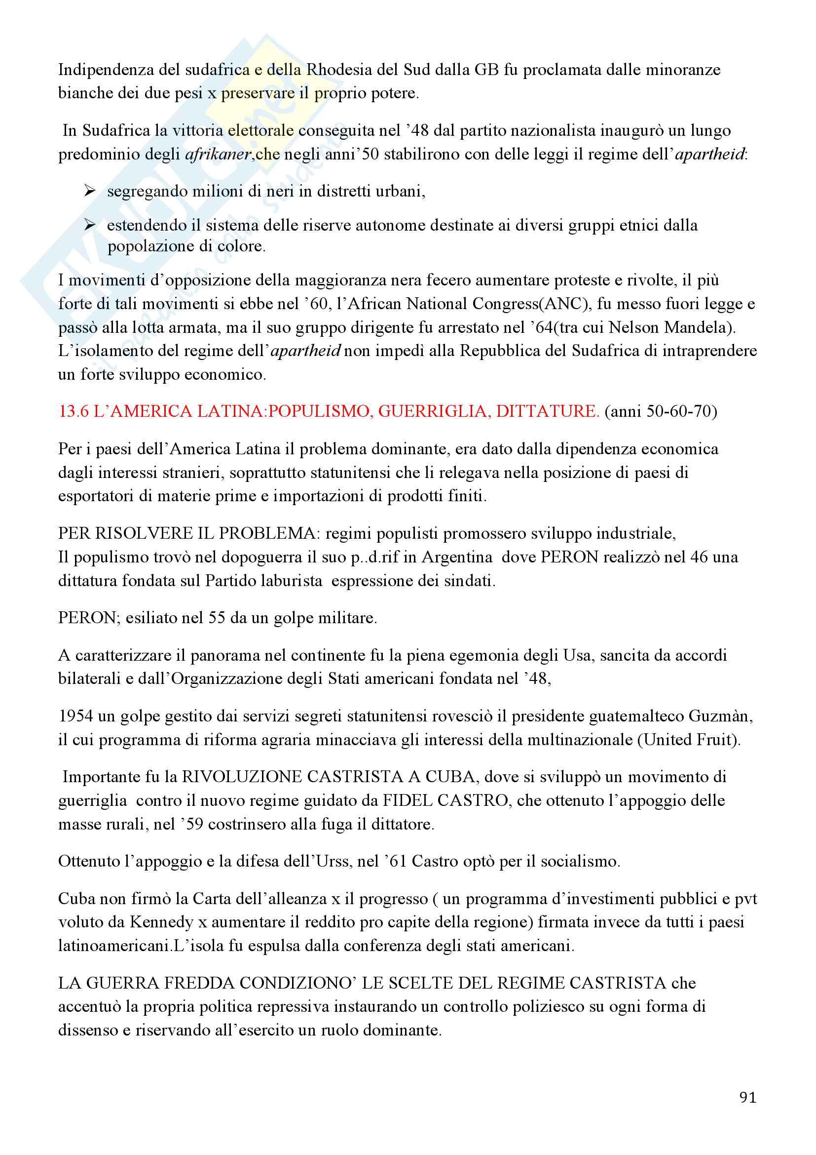 Storia Contemporanea, Detti, Gozzini il Novecento - Riassunto Pag. 91