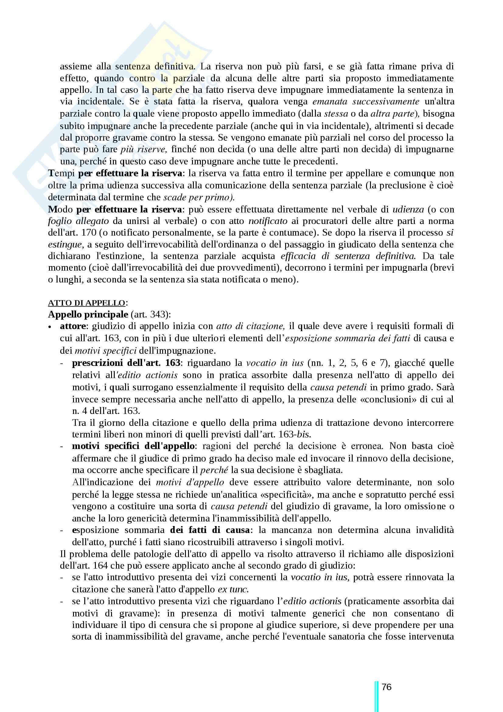 Riassunto esame Diritto processuale civile, prof. Ricci, libro consigliato Diritto processuale civile, secondo volume, Ricci Pag. 76