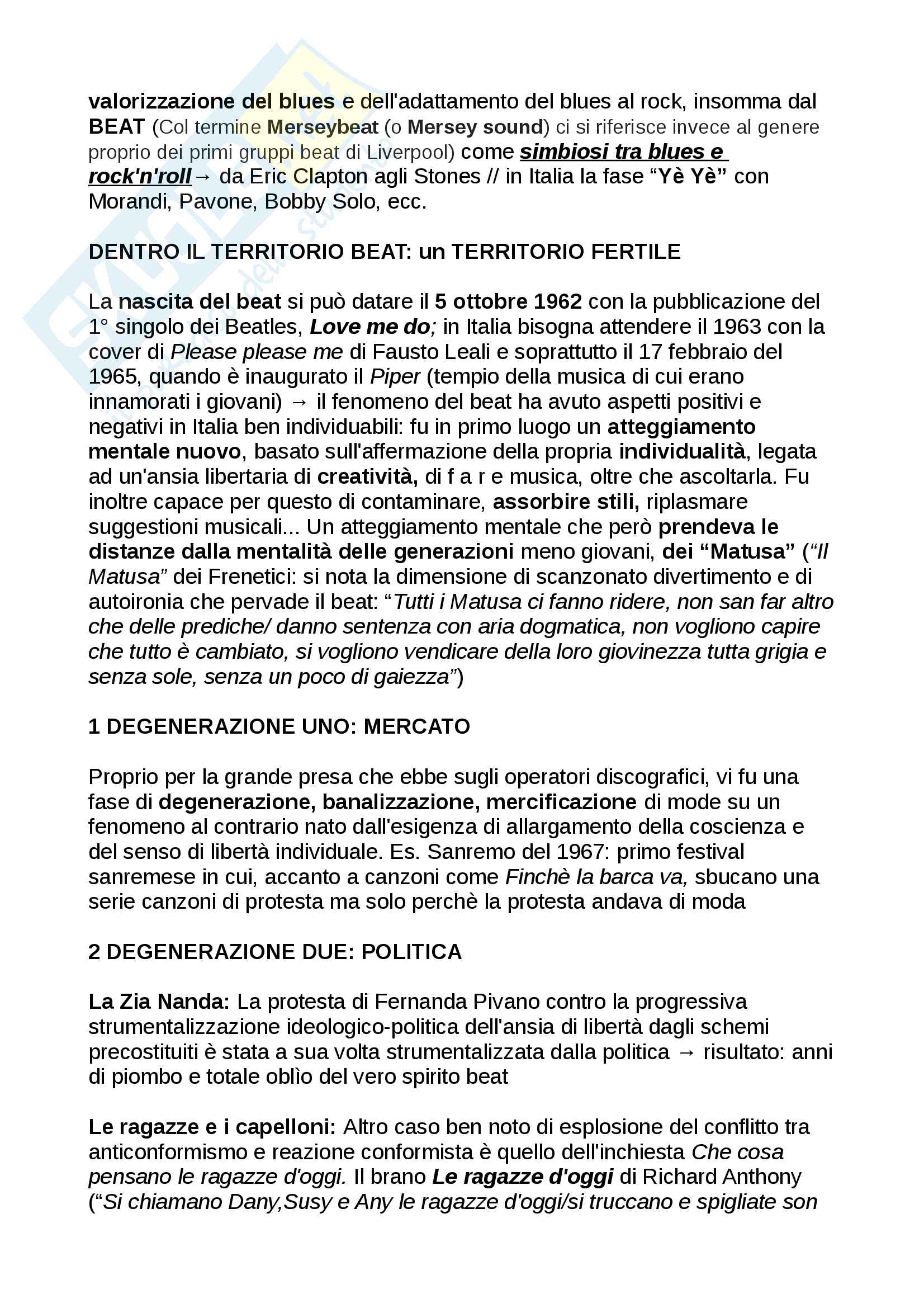Riassunti Etnomusicologia e linguaggi musicali contemporanei Prof. Bultrighini Pag. 26