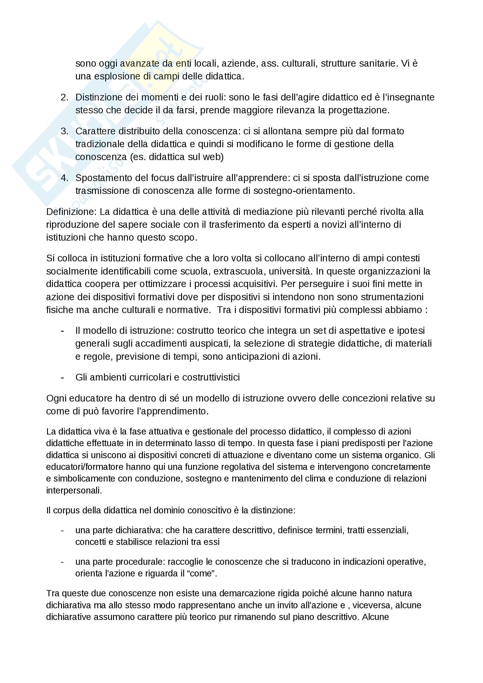 """Riassunto esame Didattica generale, docente prof.ssa Palomba, libro consigliato """"Fondamenti di didattica, teoria e prassi dei dispositivi formativi"""" (Bonaiuti, Calvani, Ranieri) Pag. 2"""