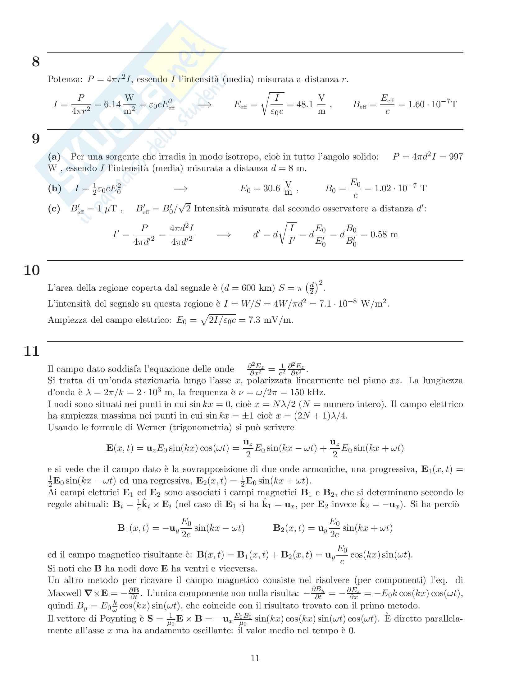 Esercizi Onde Pag. 11