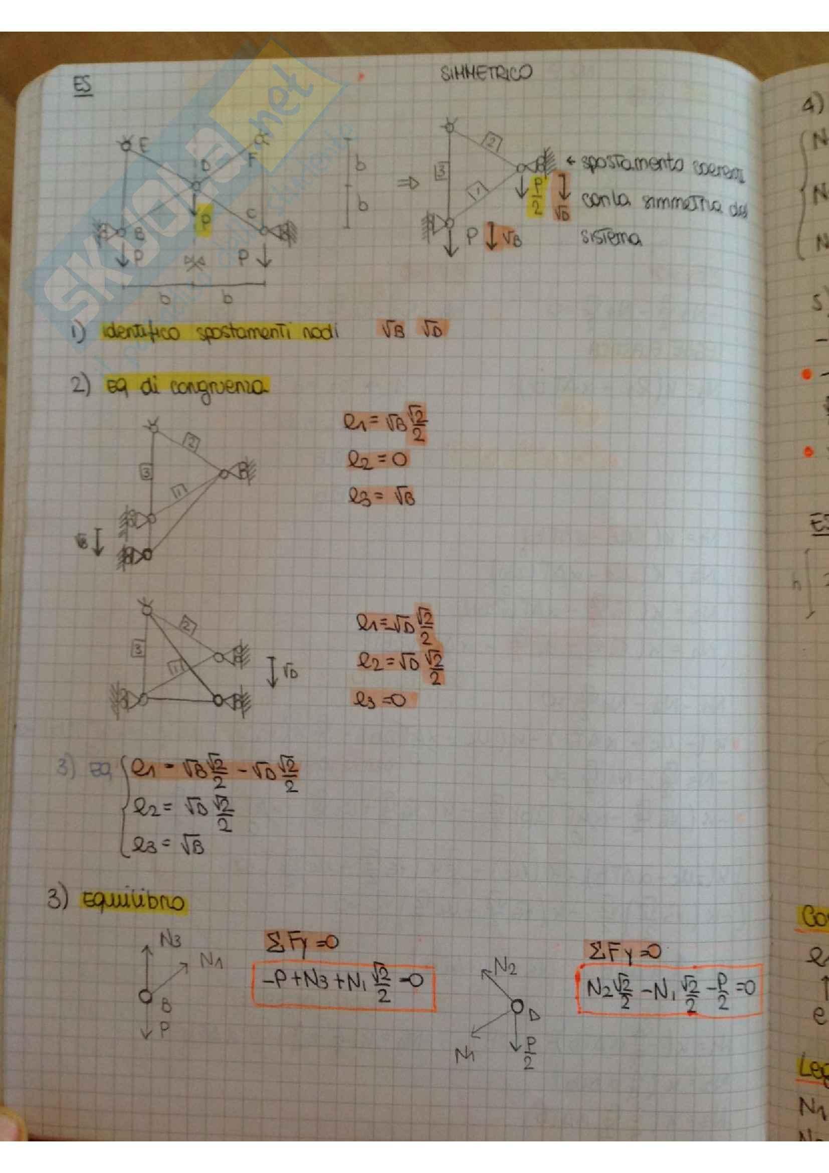 Scienza delle costruzioni, appunti ed esercitazioni, preparazione completa all'esame Pag. 26