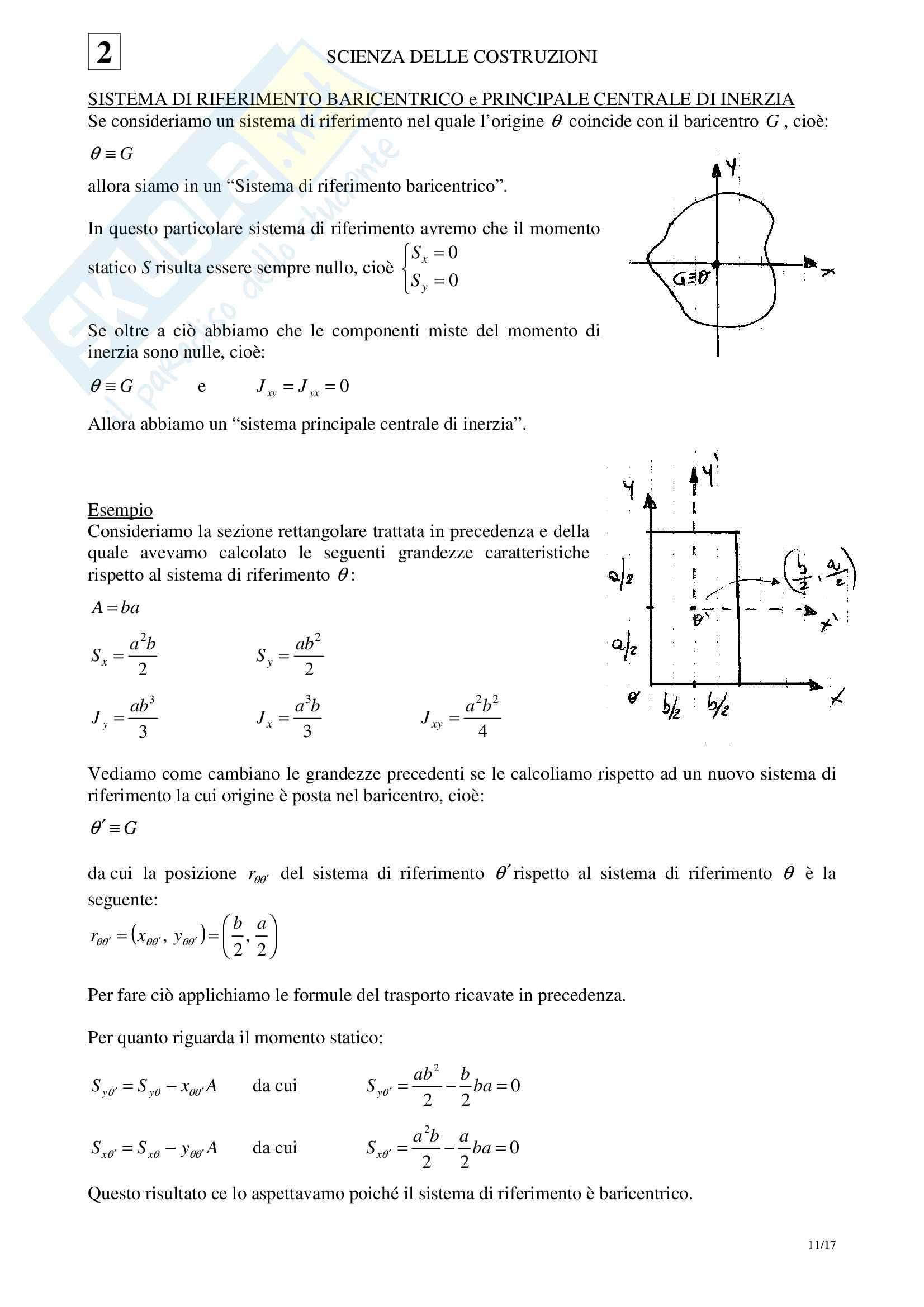 02 Scienza delle Costruzioni - Geometria delle aree Pag. 11