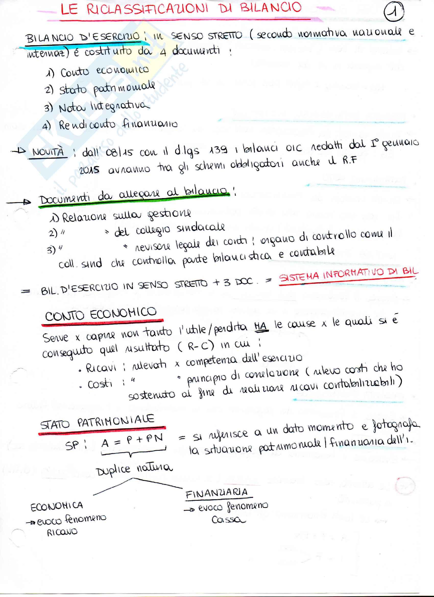 Appunti di analisi di bilancio