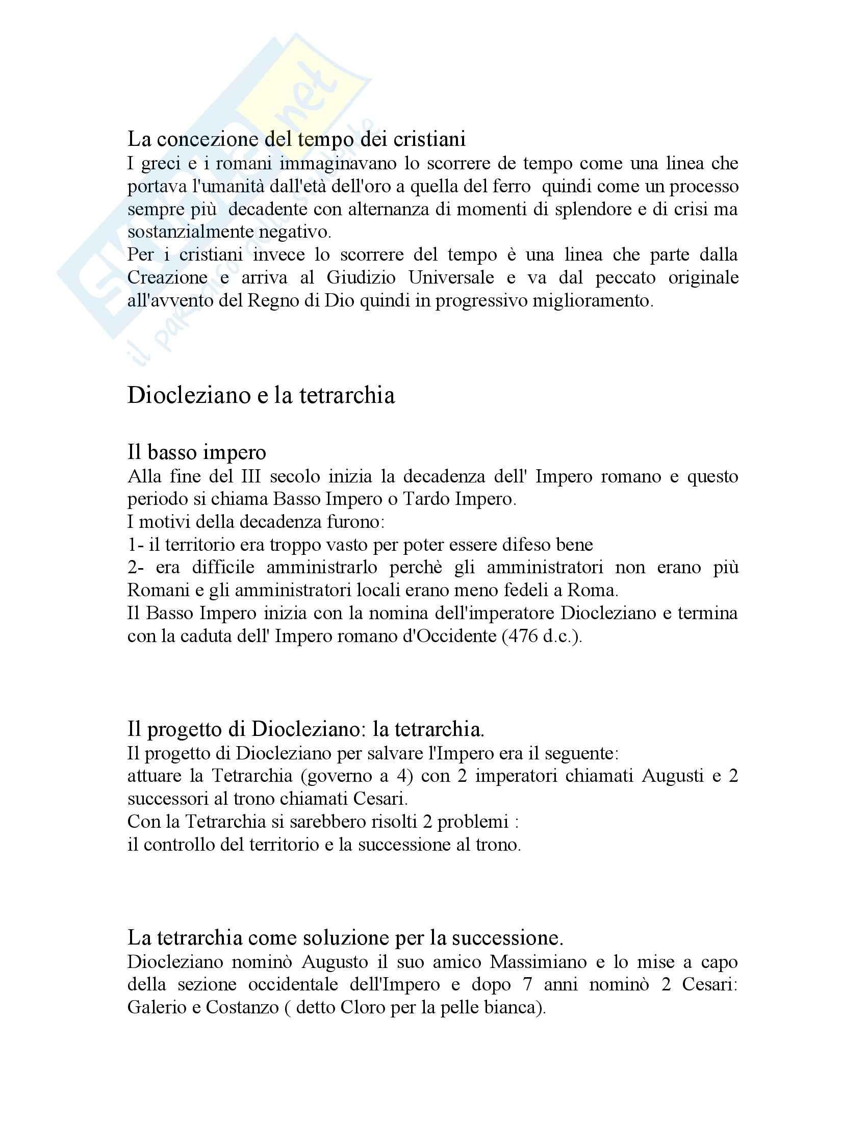Storia Da Diocleziano a Costantino Pag. 2