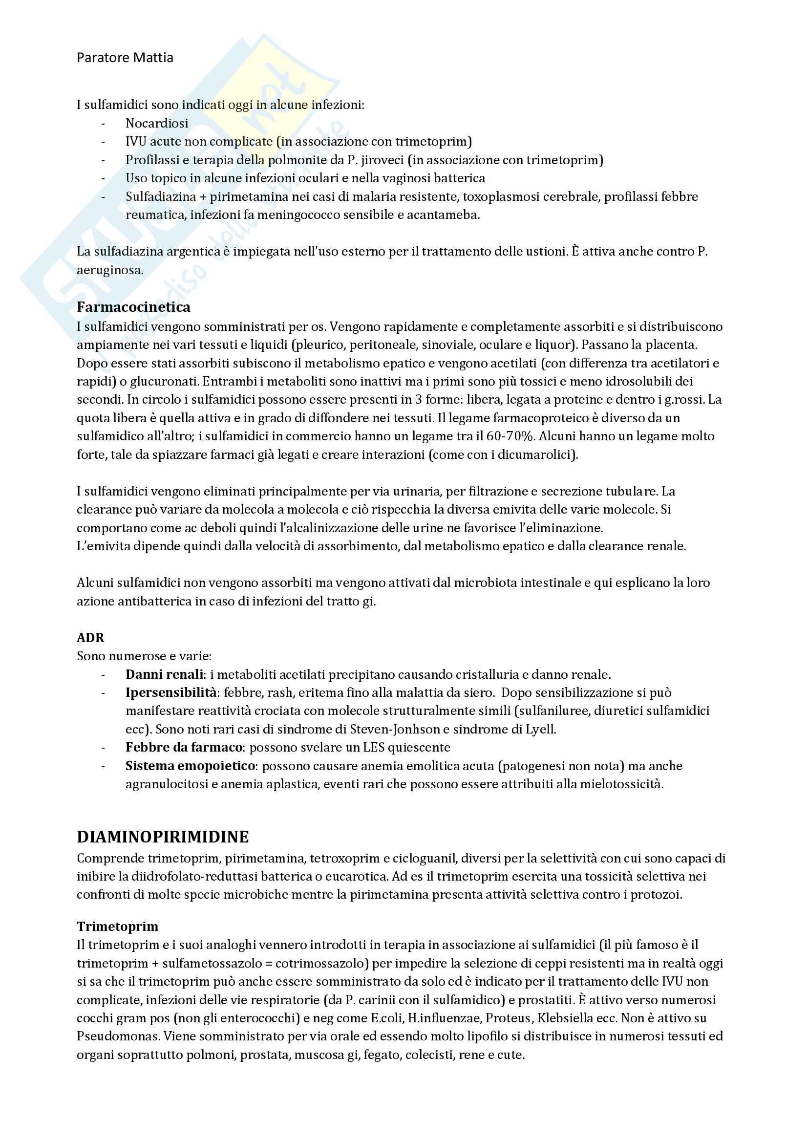 Chemioterapia antimicrobica Pag. 31