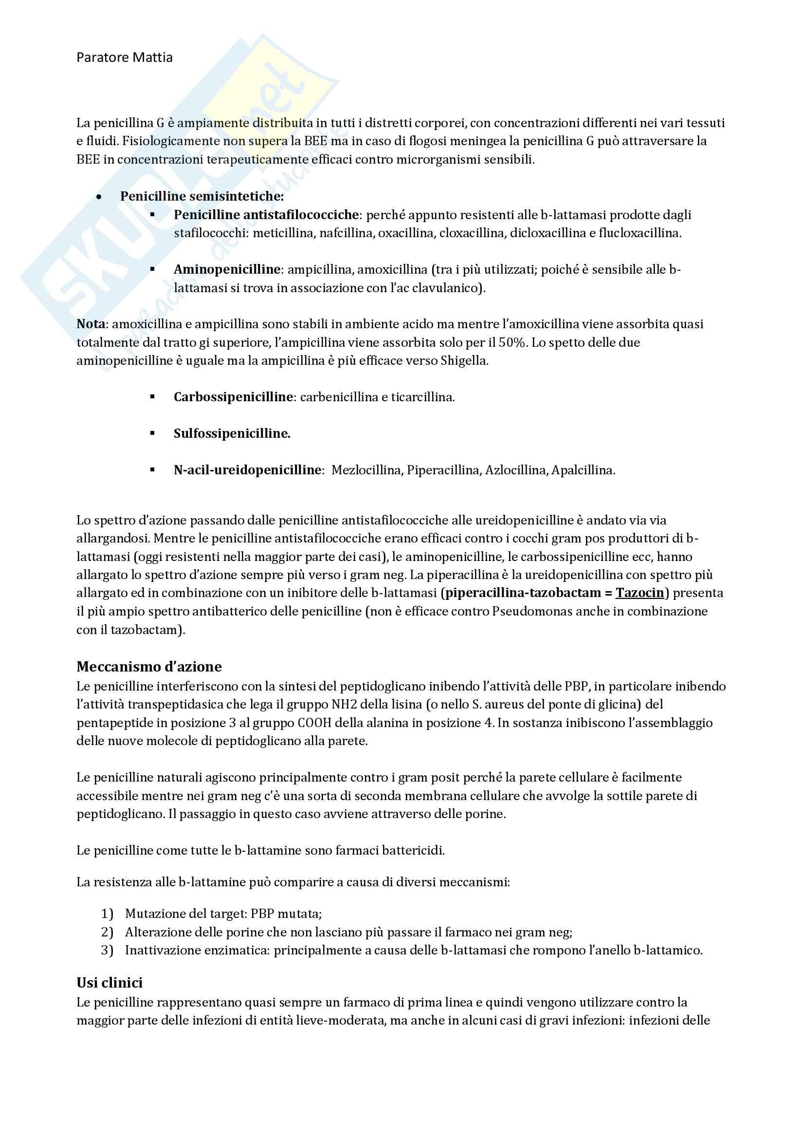Chemioterapia antimicrobica Pag. 6