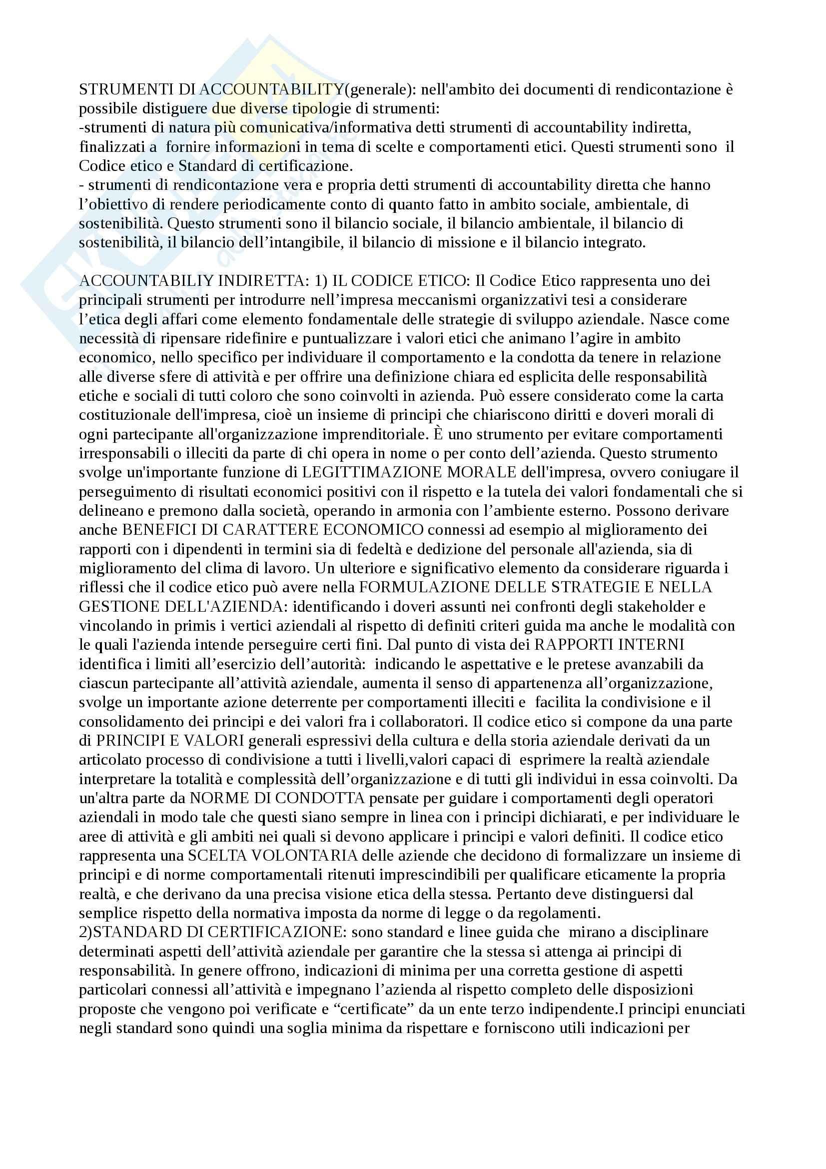 Riassunto esame responsabilita sociale d'impresa, prof. Furlotti, libro consigliato Strumenti e processi di comunicazione della responsabilità sociale d'impresa, Furlotti Pag. 16