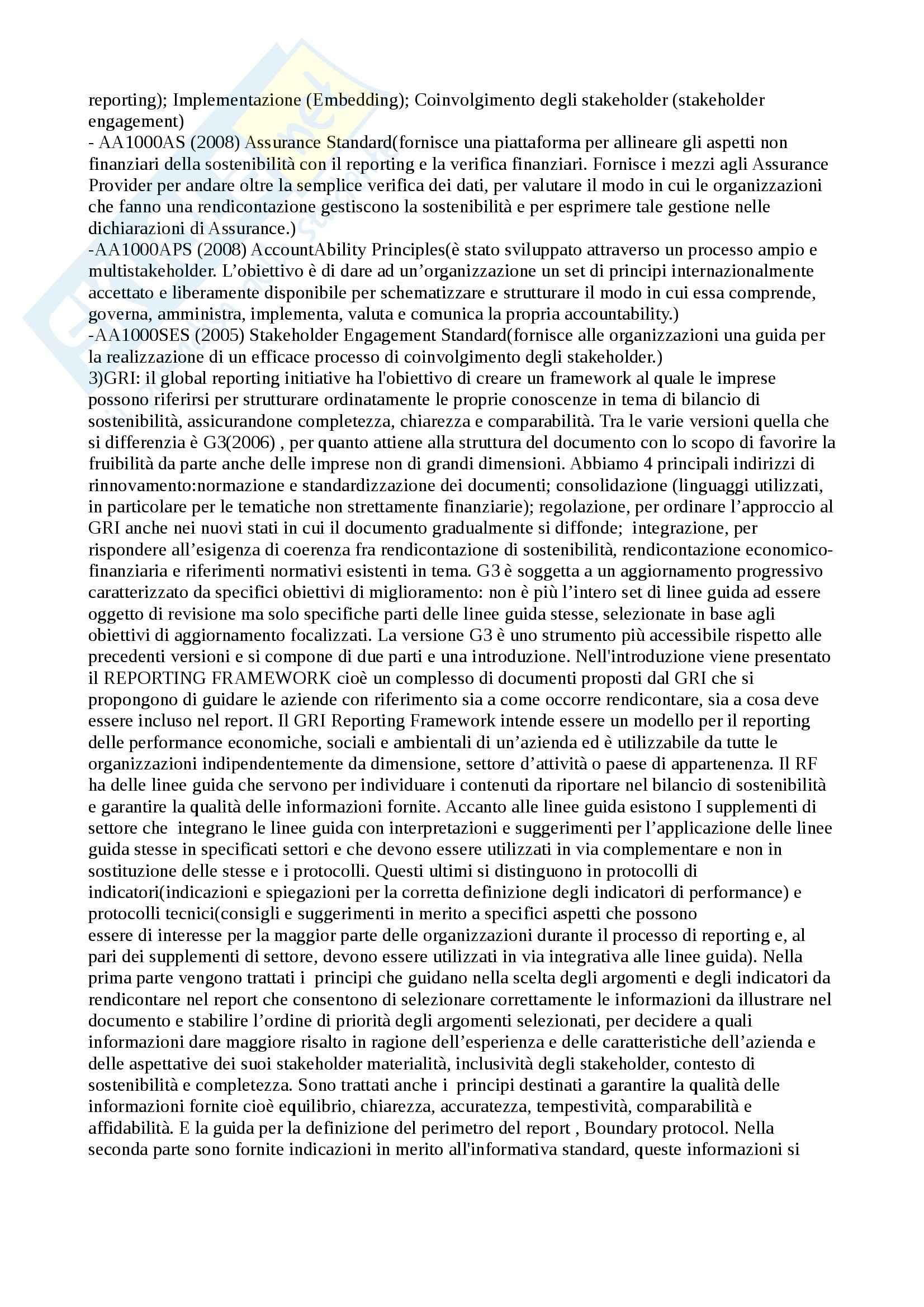 Riassunto esame responsabilita sociale d'impresa, prof. Furlotti, libro consigliato Strumenti e processi di comunicazione della responsabilità sociale d'impresa, Furlotti Pag. 21