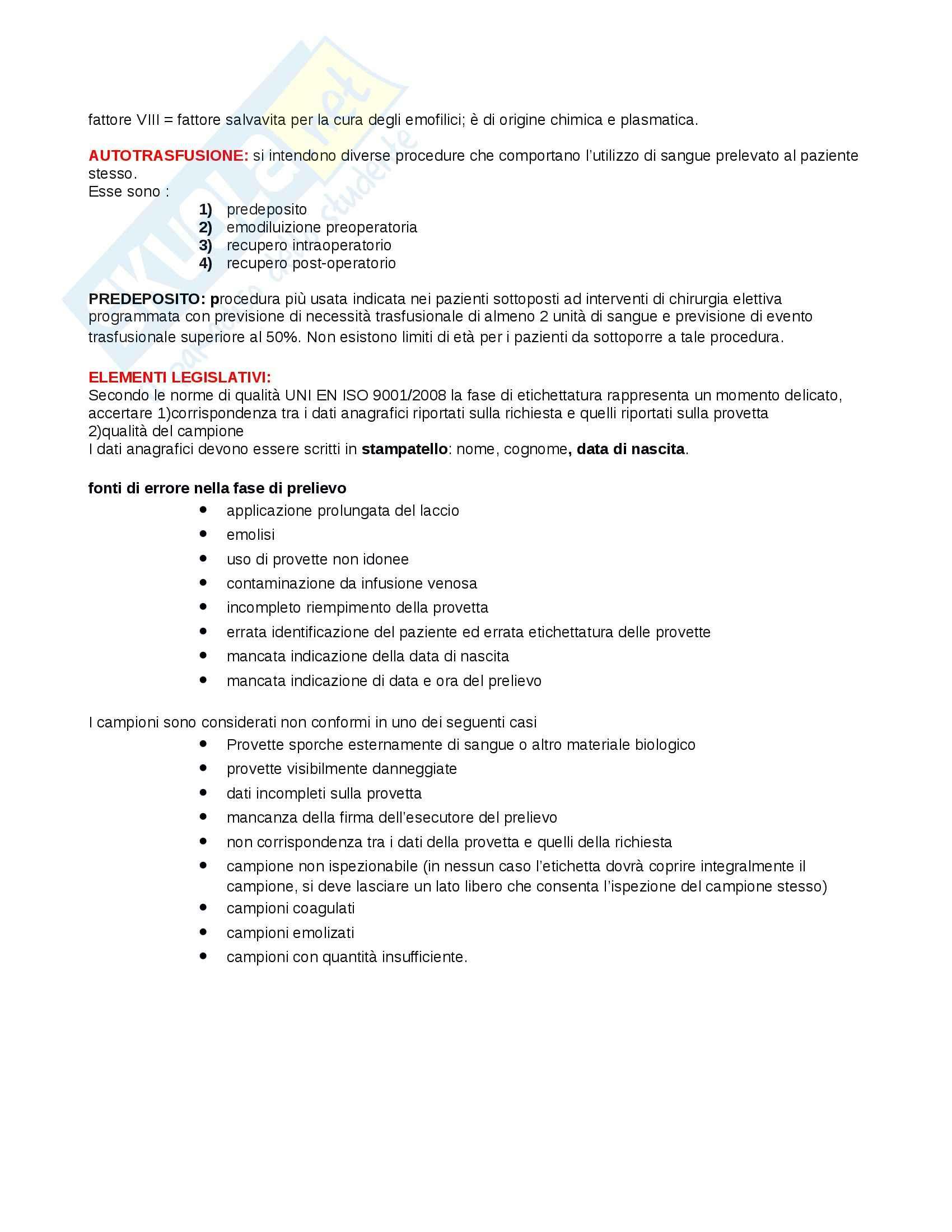 Patologia generale e fisiopatologia - immunoematologia Pag. 6