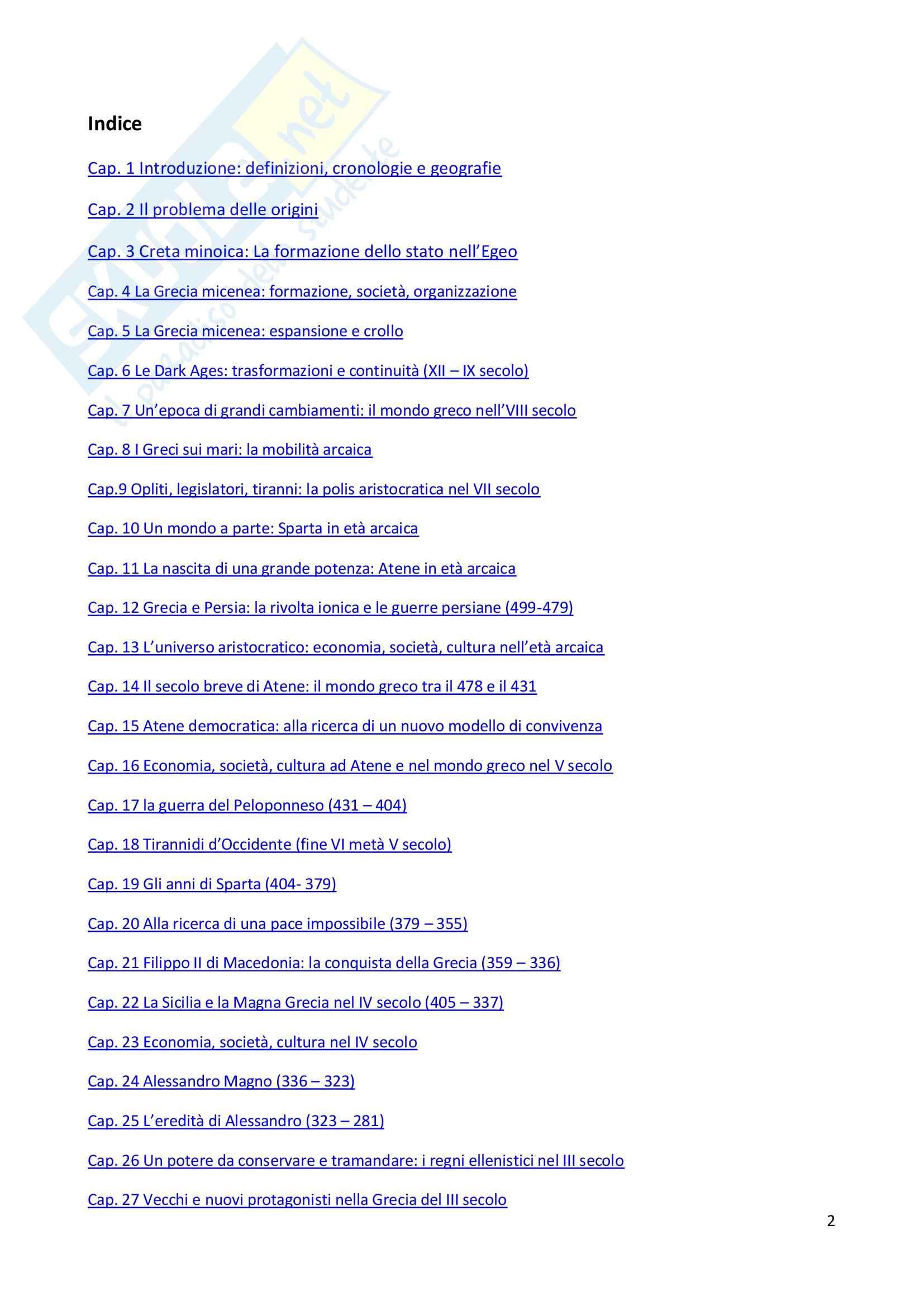 Riassunto esame Storia Greca, prof. Guizzi, libro consigliato Manuale Storia Greca, Bettalli, d'Agata, Magnetto