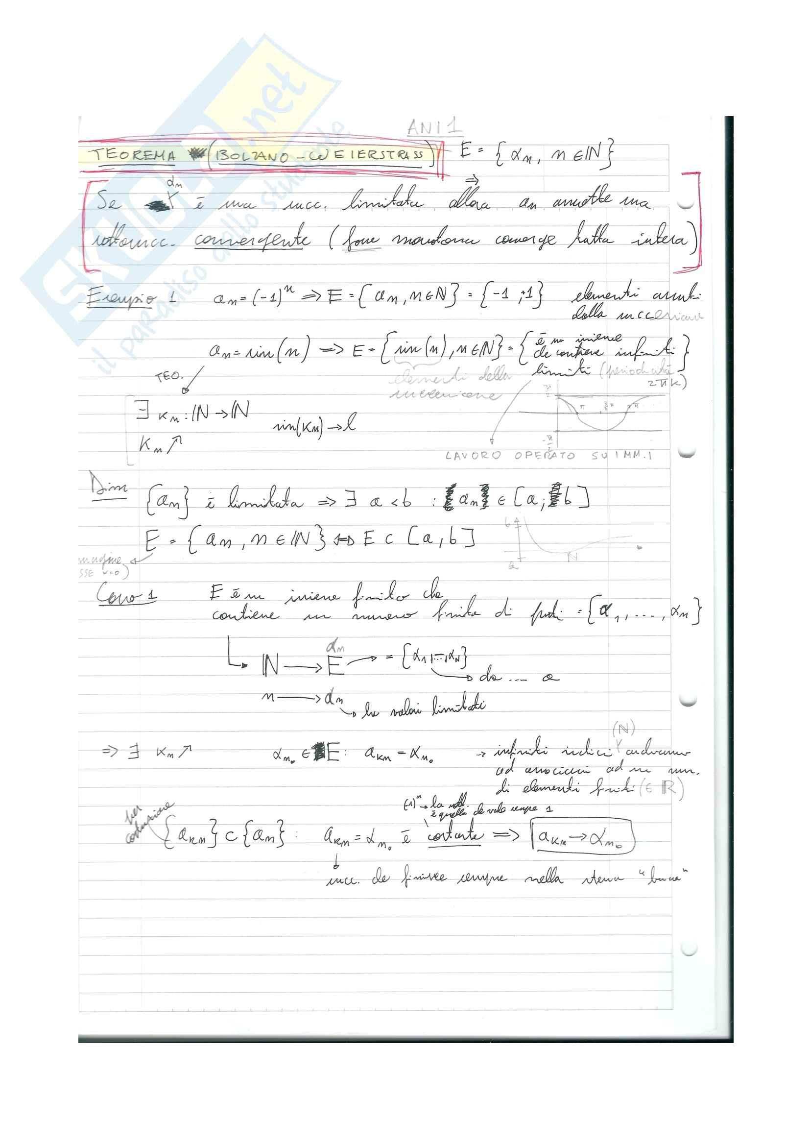 Analisi matematica 1 - Appunti