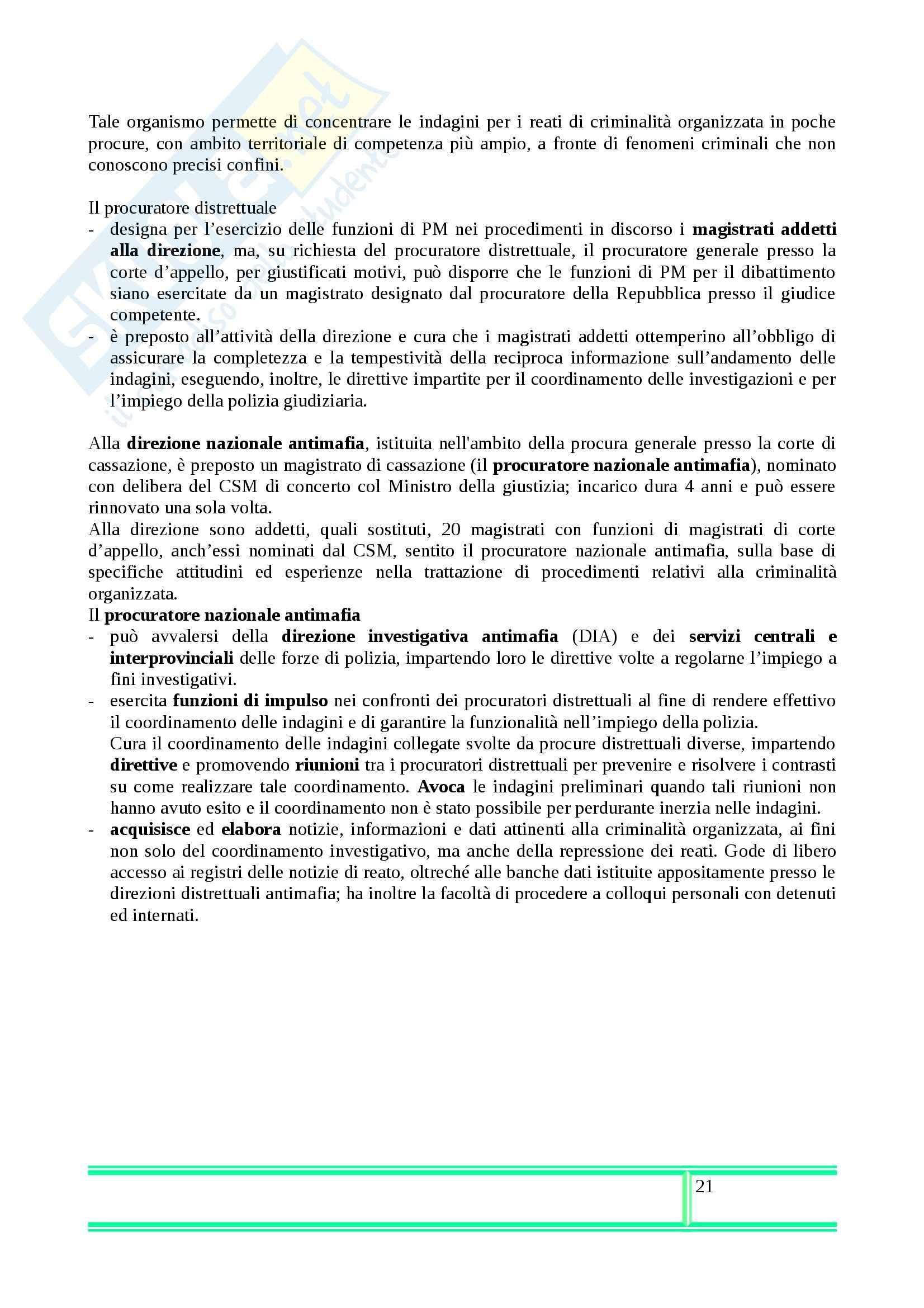 Riassunto esame Procedura Penale, prof. Illuminati, libro consigliato di Conso e Grevi Pag. 21