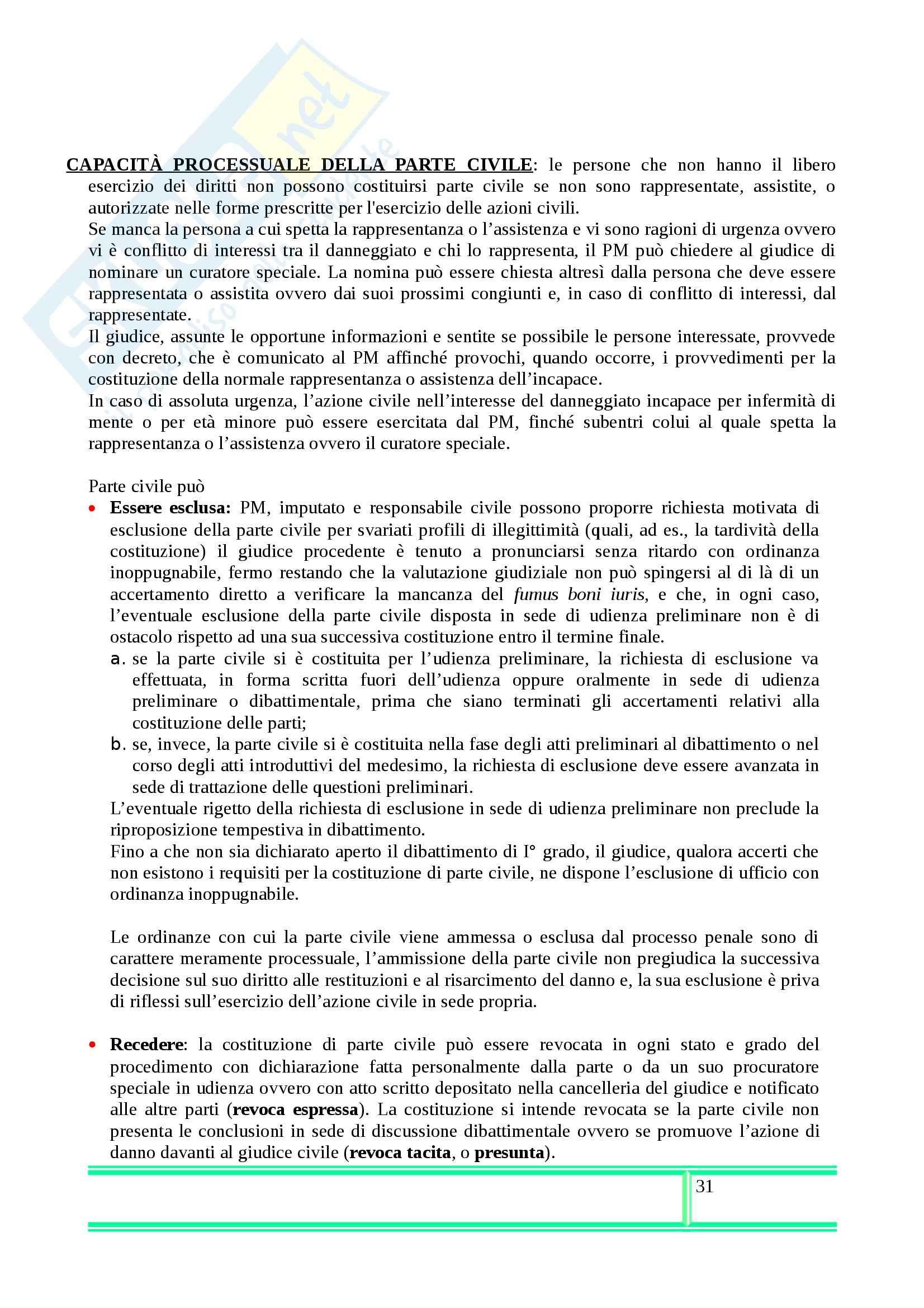 Riassunto esame Procedura Penale, prof. Illuminati, libro consigliato di Conso e Grevi Pag. 31