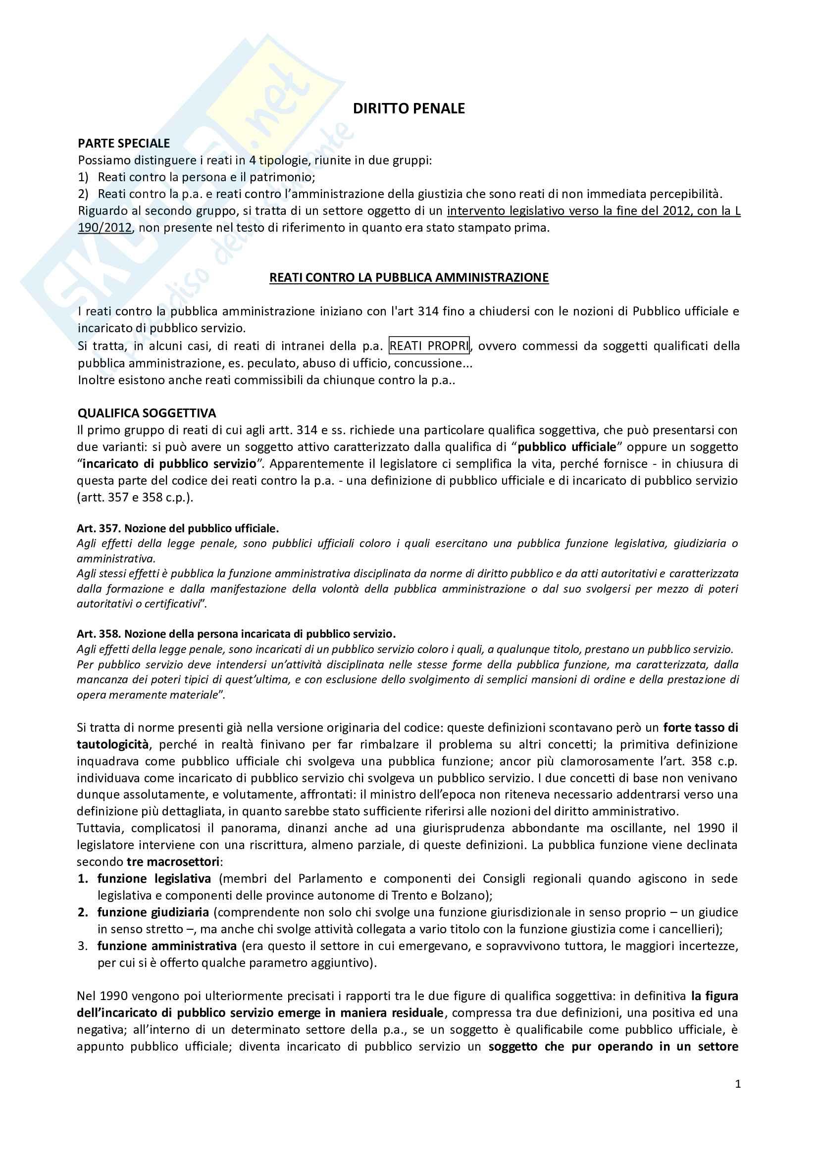 Diritto penale - nozioni Pag. 1