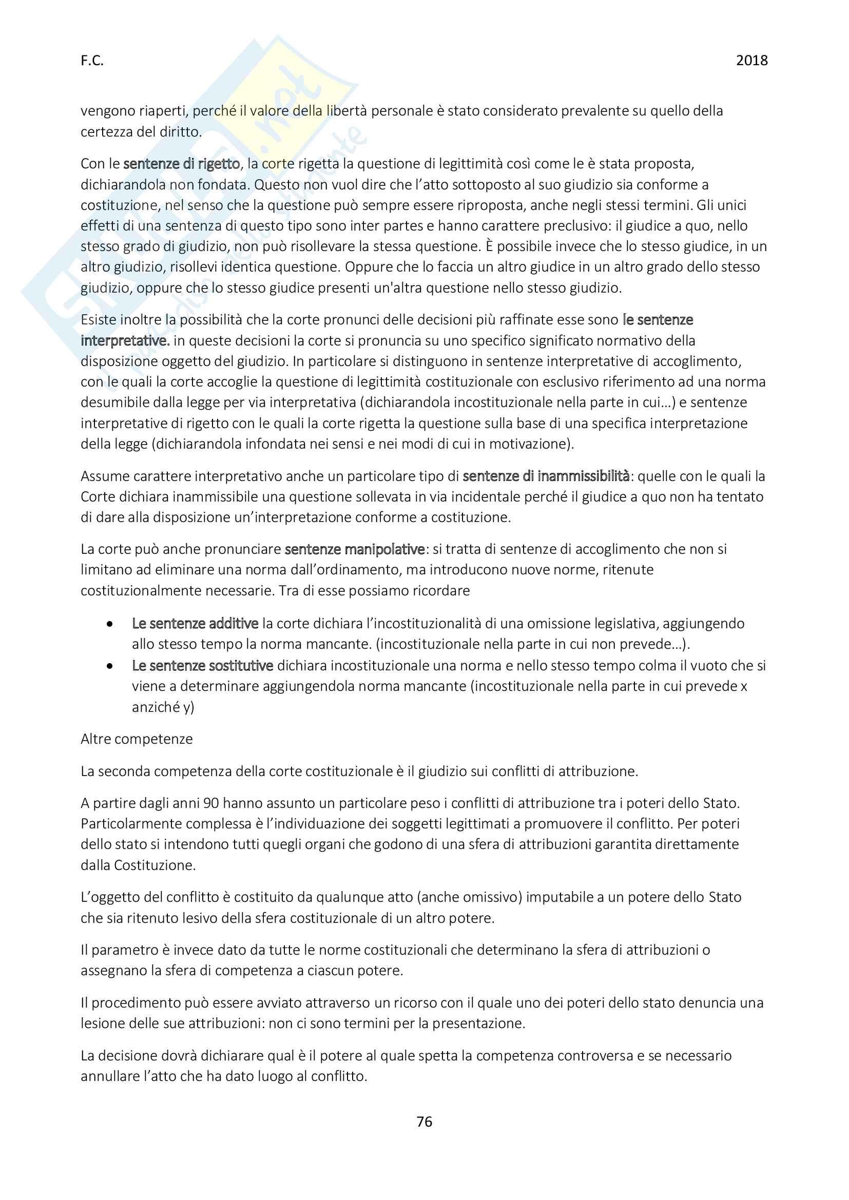 Riassunto esame Diritto pubblico, Prof Groppi, libro consigliato: Introduzione allo studio del diritto pubblico, Groppi Pag. 76