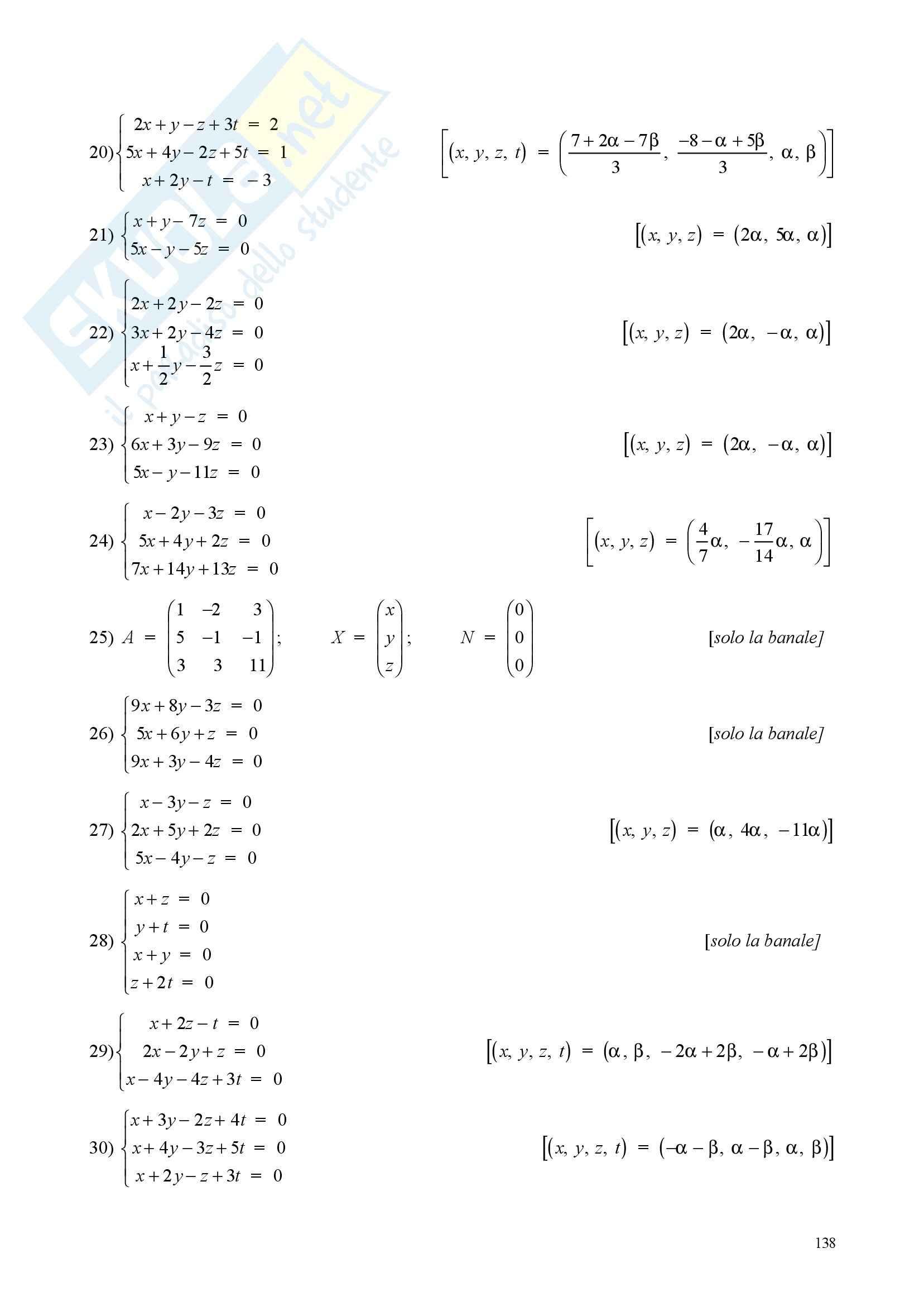 Sistemi di equazioni lineare - Appunti e esercizi Pag. 21