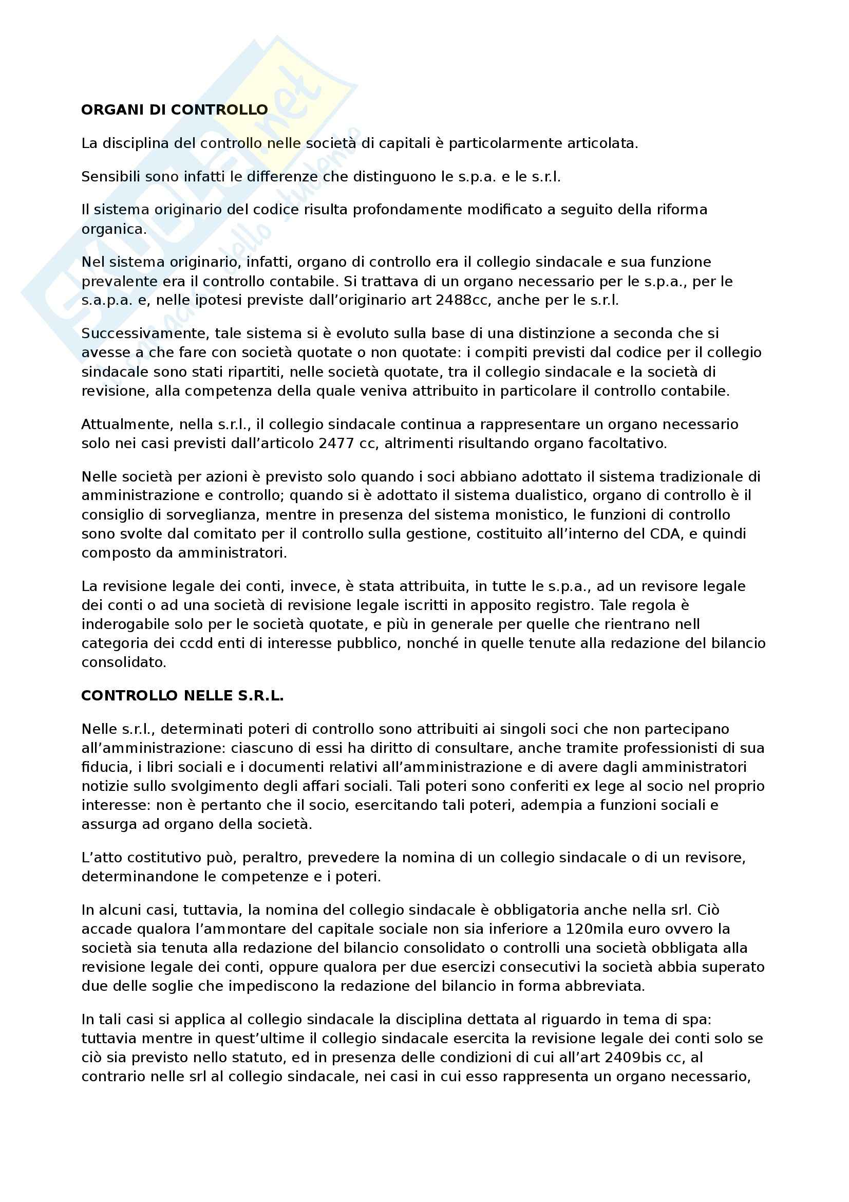 appunto M. Cirenei Diritto commerciale
