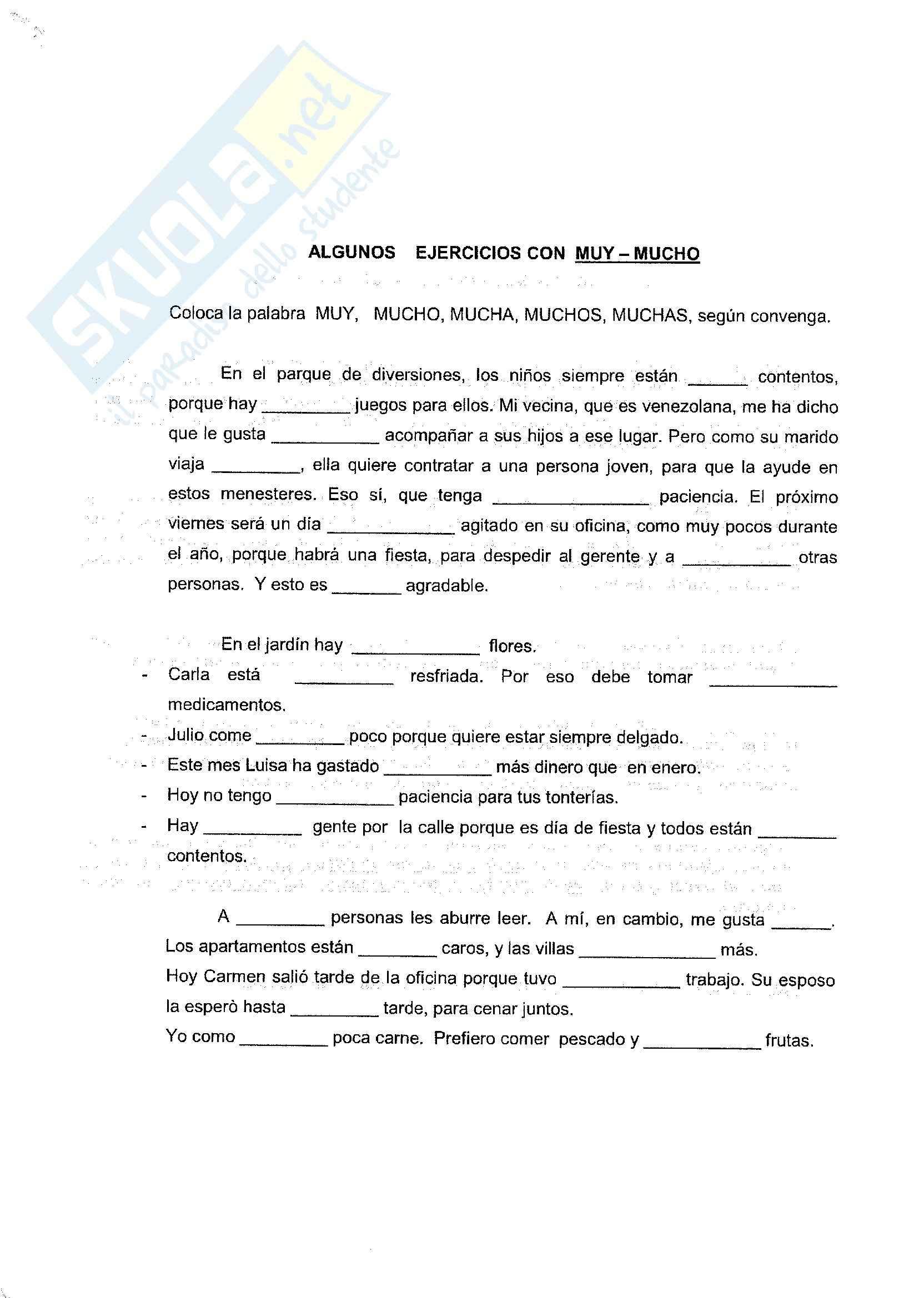 Spagnolo - esercizi e grammatica Pag. 11