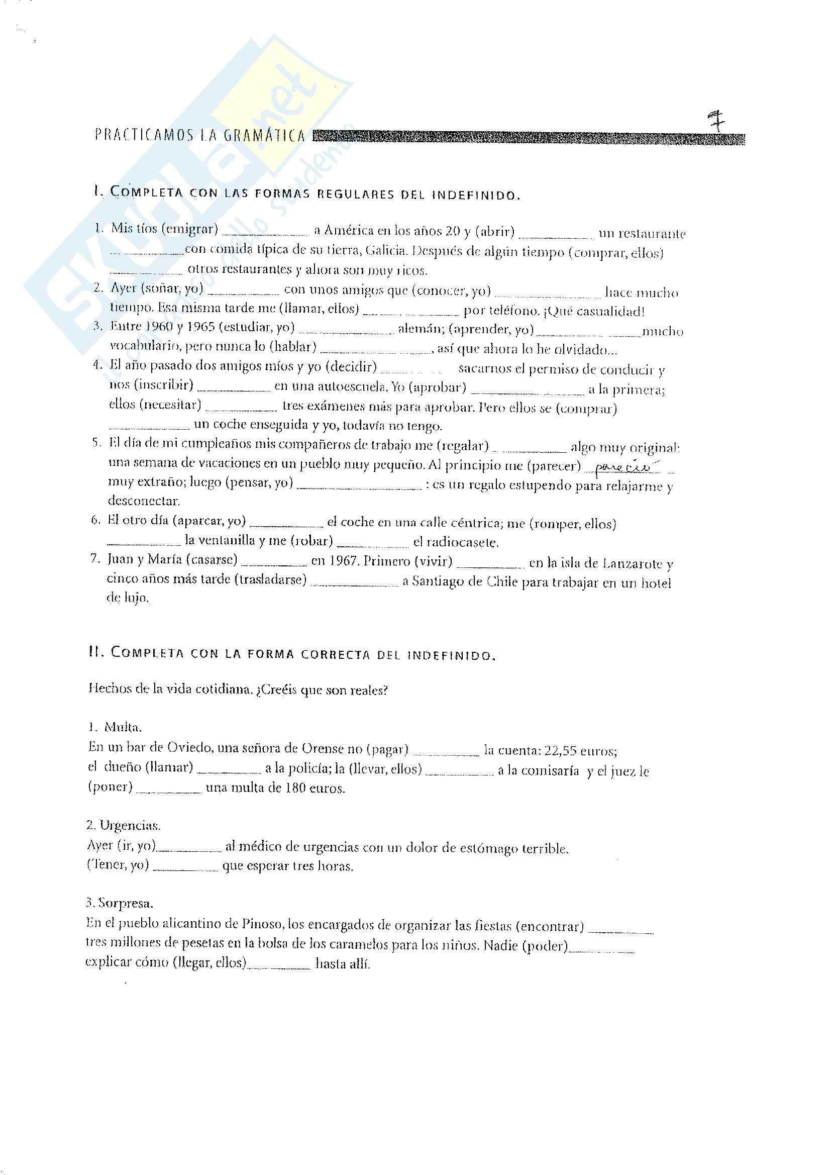 Spagnolo - esercizi e grammatica Pag. 41
