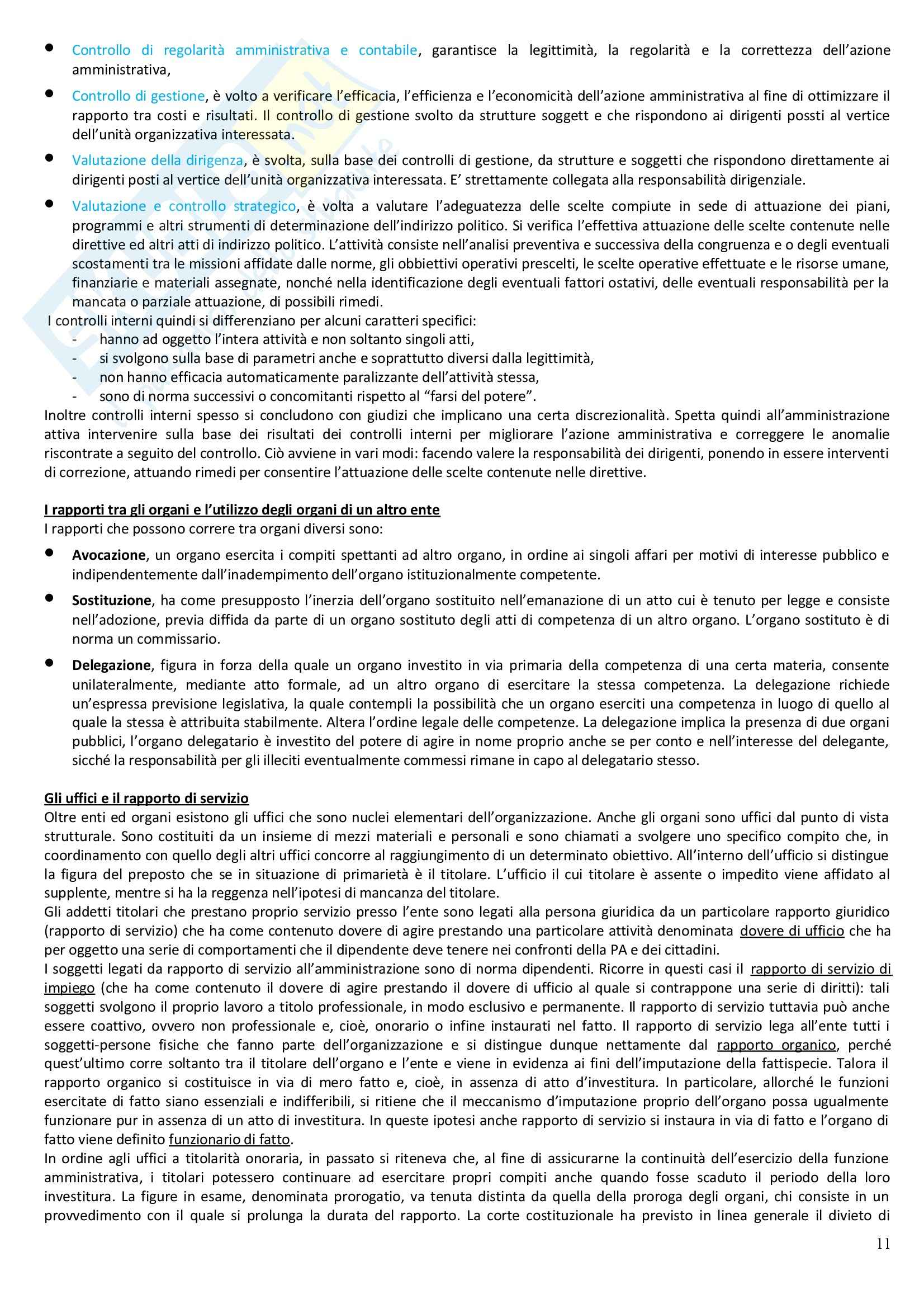 Riassunto esame Diritto Amministrativo, prof. Casetta, libro consigliato Manuale di Diritto Amministrativo Pag. 11