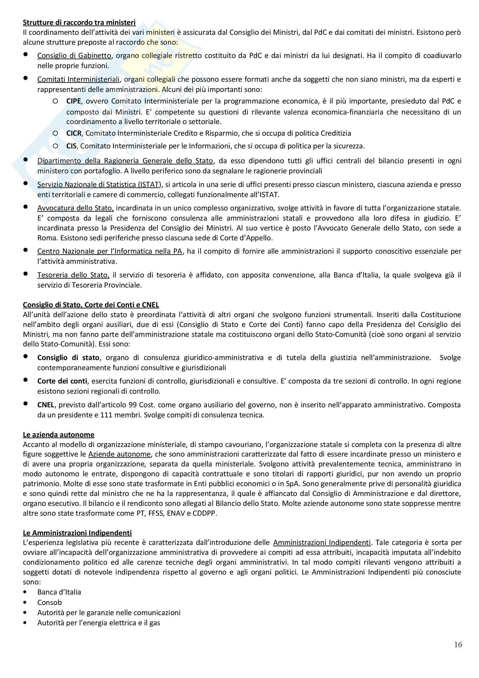 Riassunto esame Diritto Amministrativo, prof. Casetta, libro consigliato Manuale di Diritto Amministrativo Pag. 16
