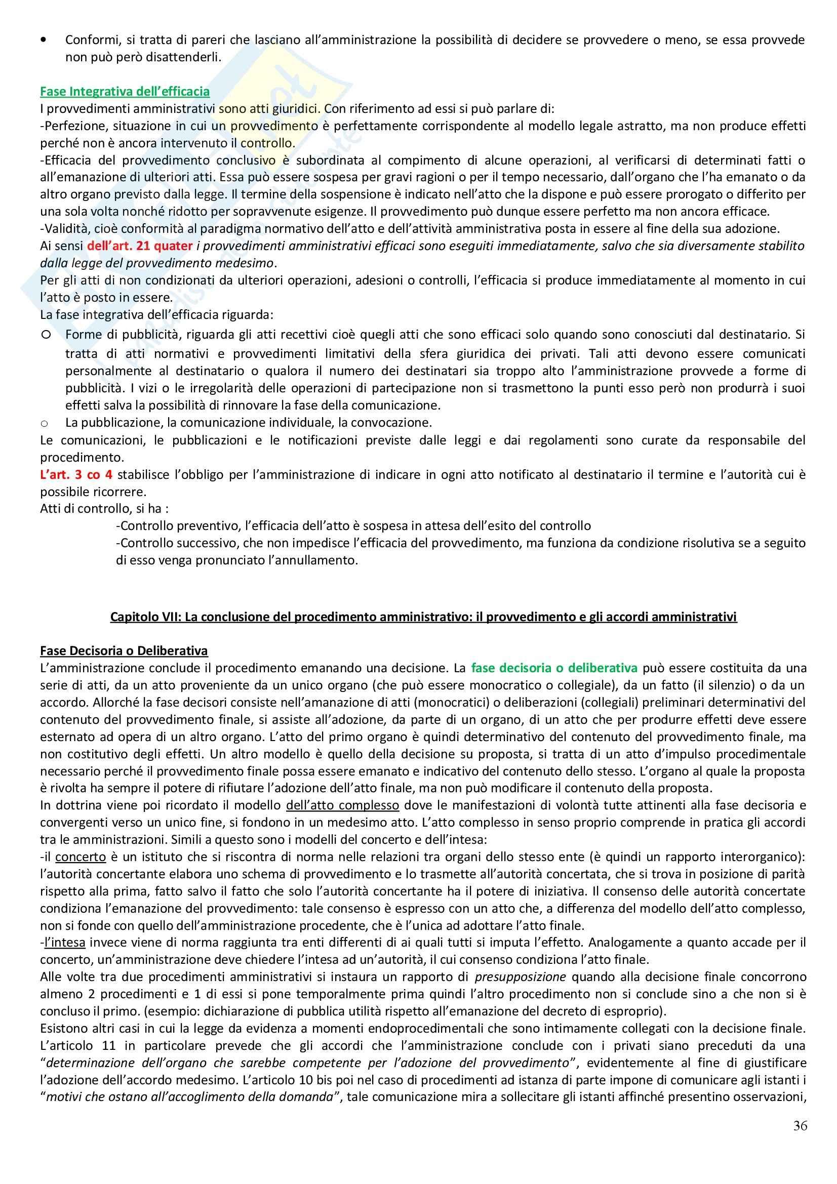 Riassunto esame Diritto Amministrativo, prof. Casetta, libro consigliato Manuale di Diritto Amministrativo Pag. 36